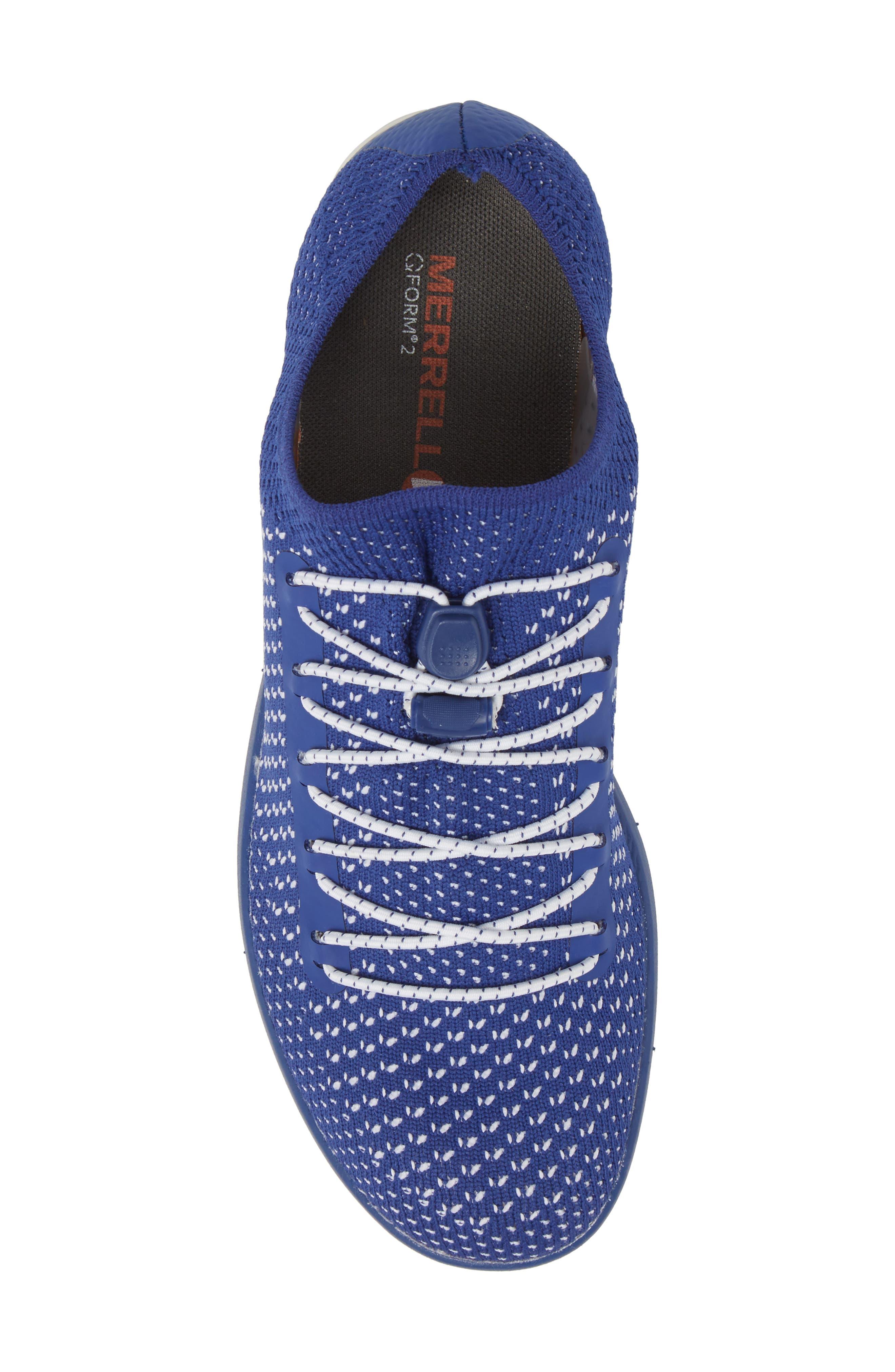 Zoe Sojourn Lace Knit Sneaker,                             Alternate thumbnail 5, color,                             Sodalite