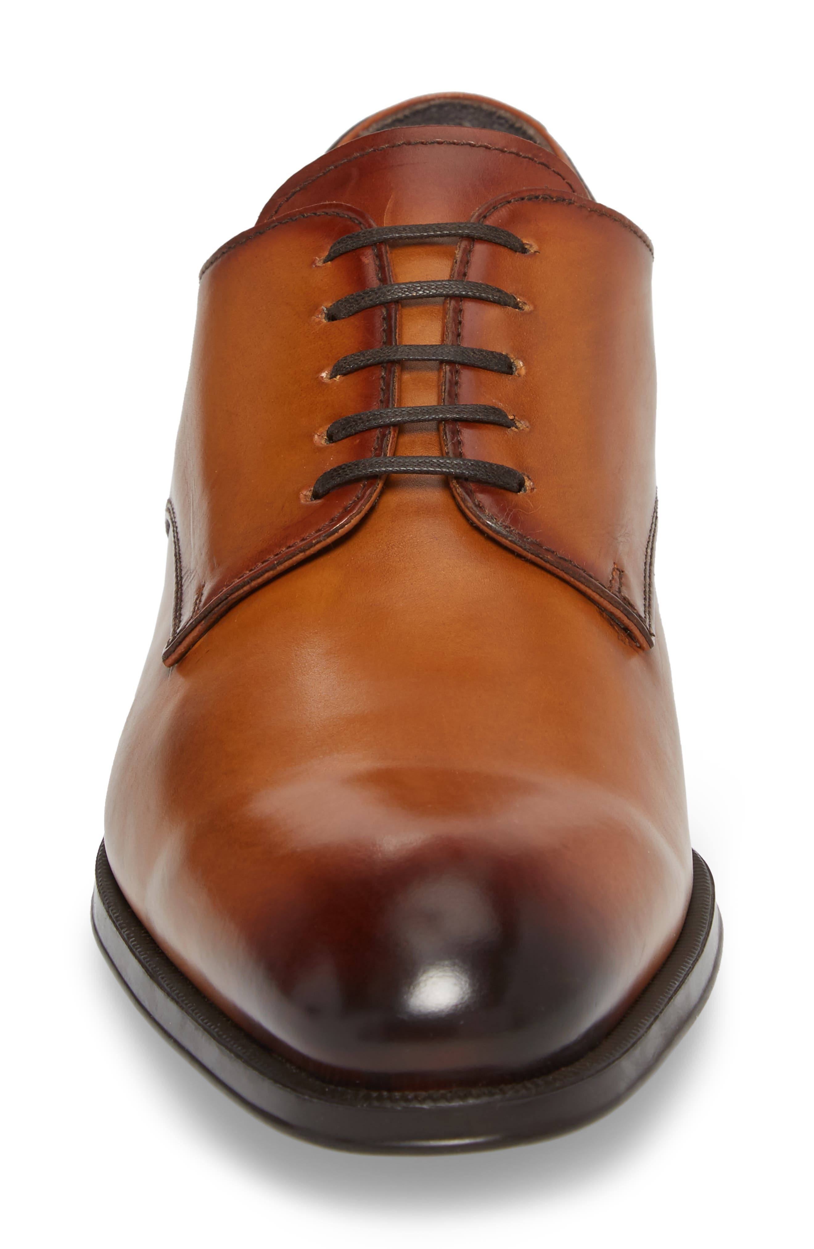 'Buchanan' Plain Toe Derby,                             Alternate thumbnail 4, color,                             Cuoio