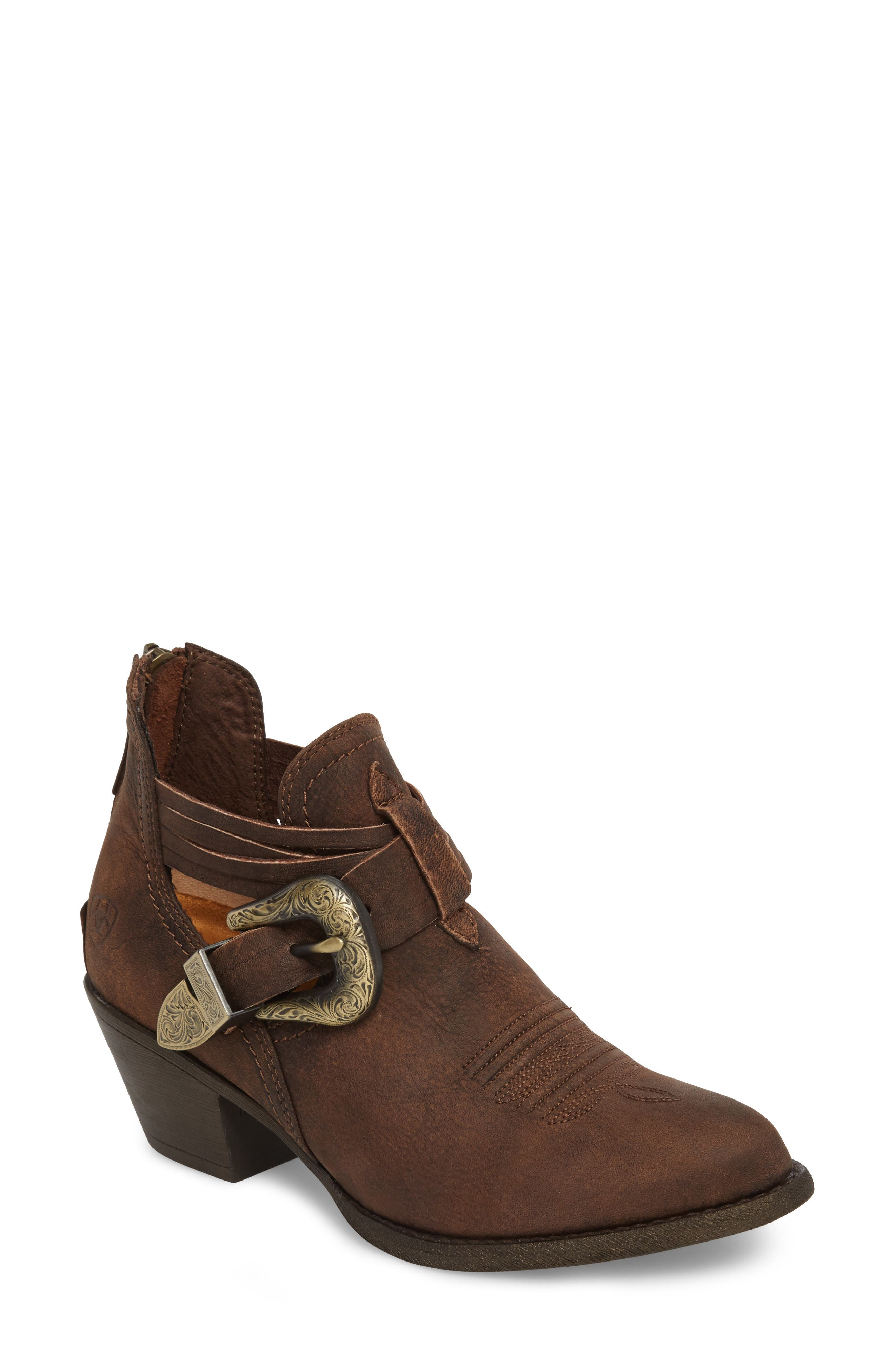 ARIAT Dulce Bootie in Distressed Brown Leather
