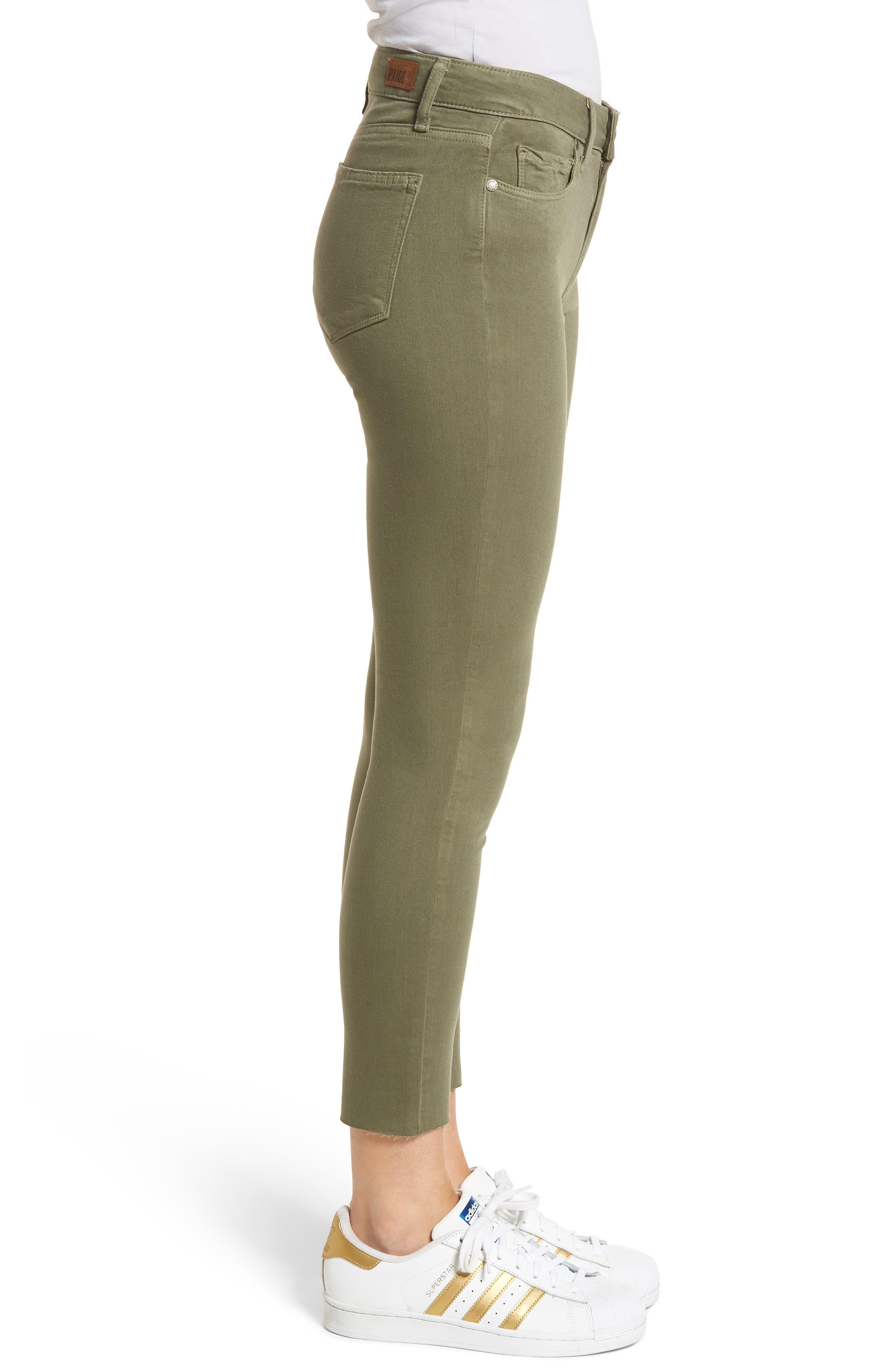 Hoxton High Waist Crop Skinny Jeans,                             Alternate thumbnail 3, color,                             Vintage Green