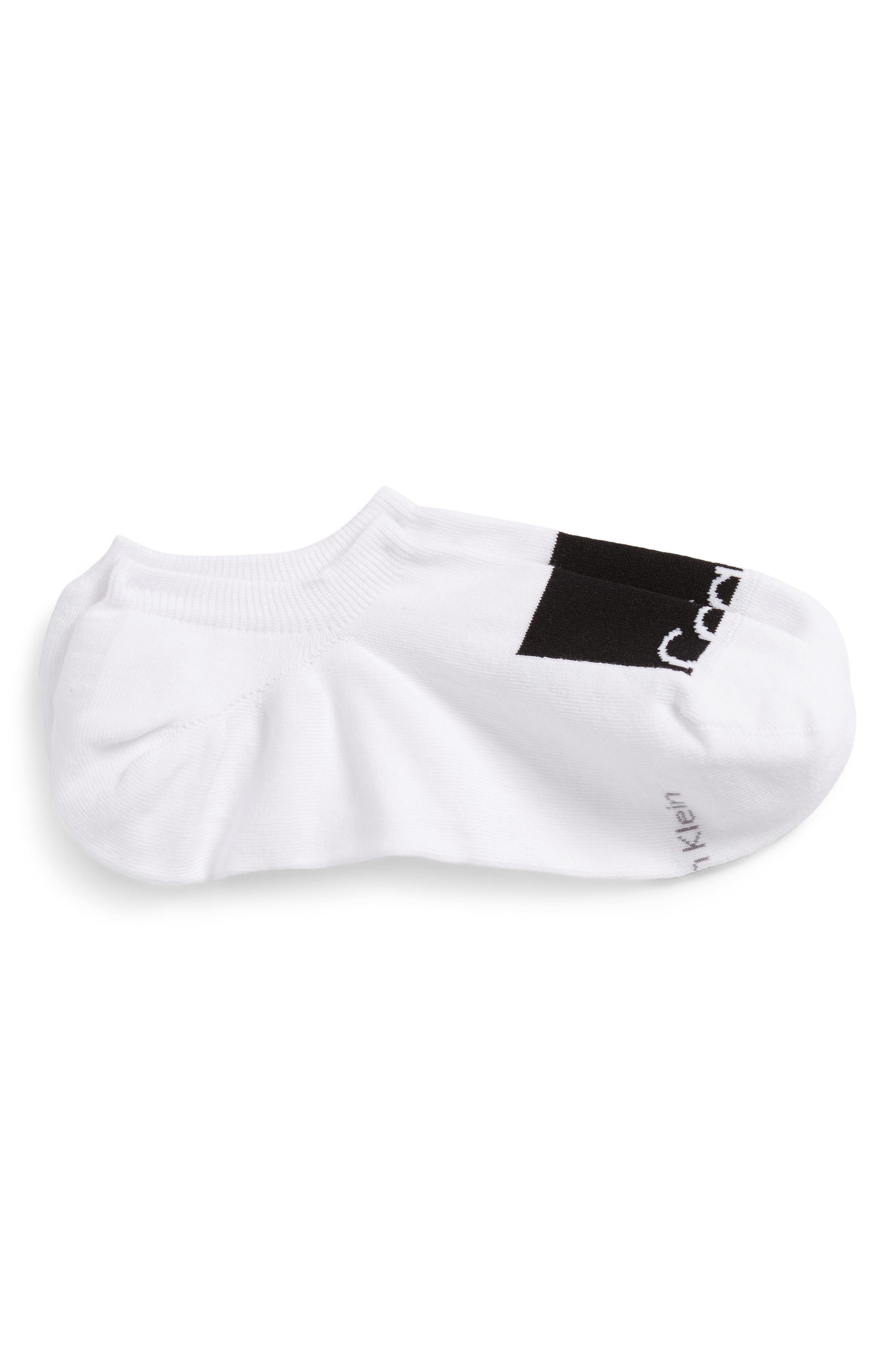 New Gen Logo No-Show Socks,                             Main thumbnail 1, color,                             White