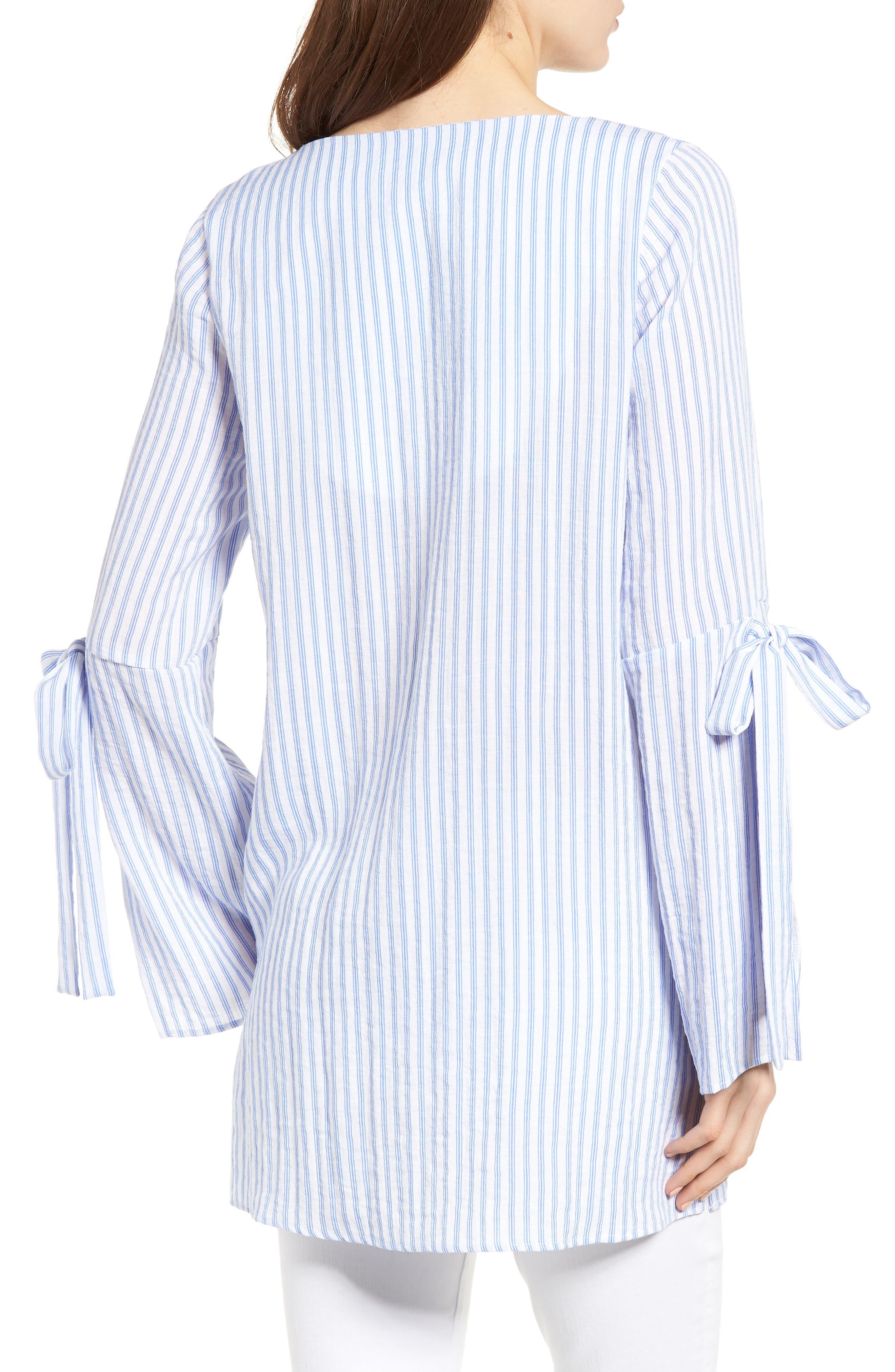 Bishop + Young Stripe Tunic Top,                             Alternate thumbnail 2, color,                             Blue White Stripe