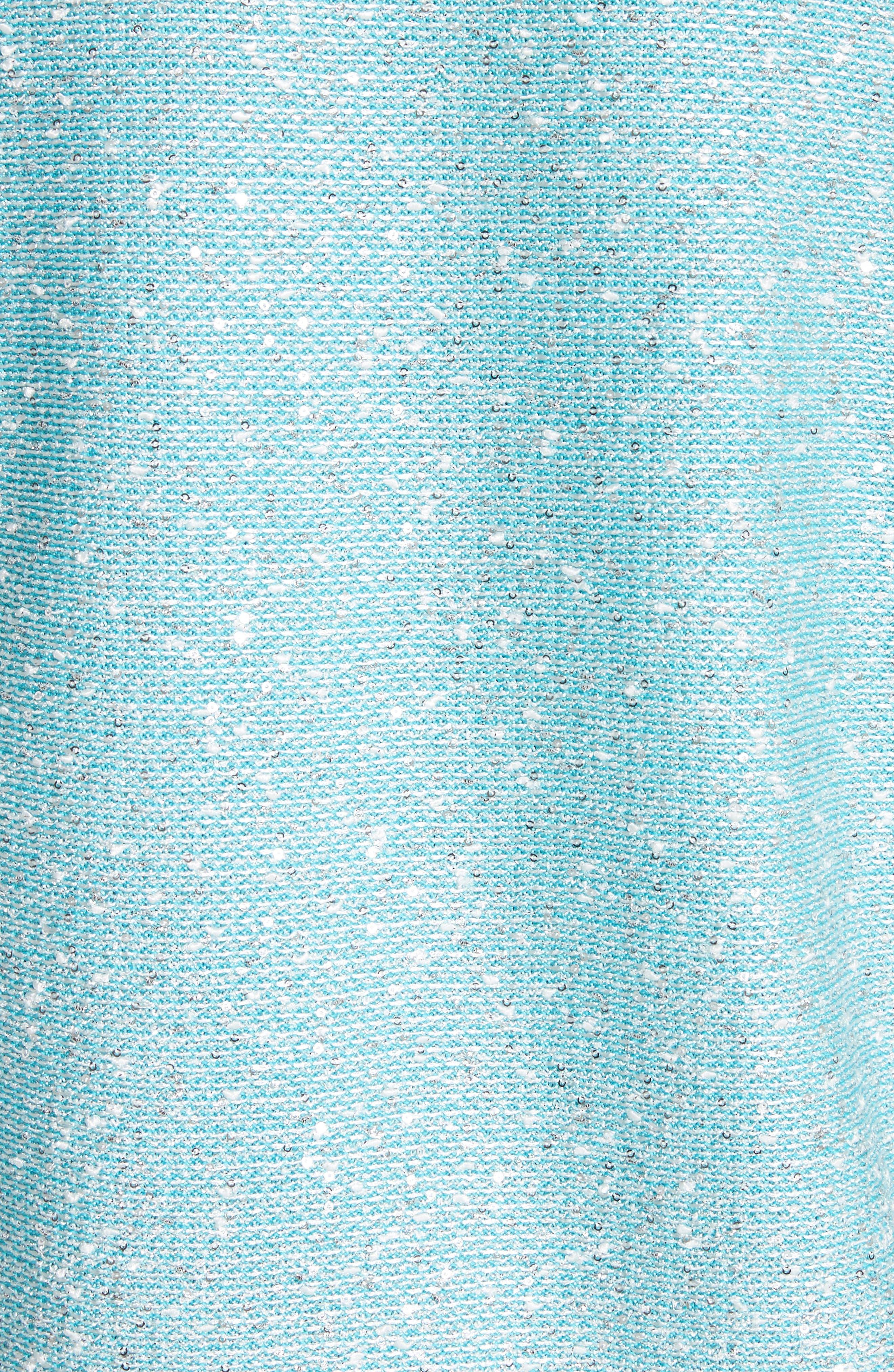 Flecked Sparkle Knit Cardigan,                             Alternate thumbnail 5, color,                             Aqua Multi