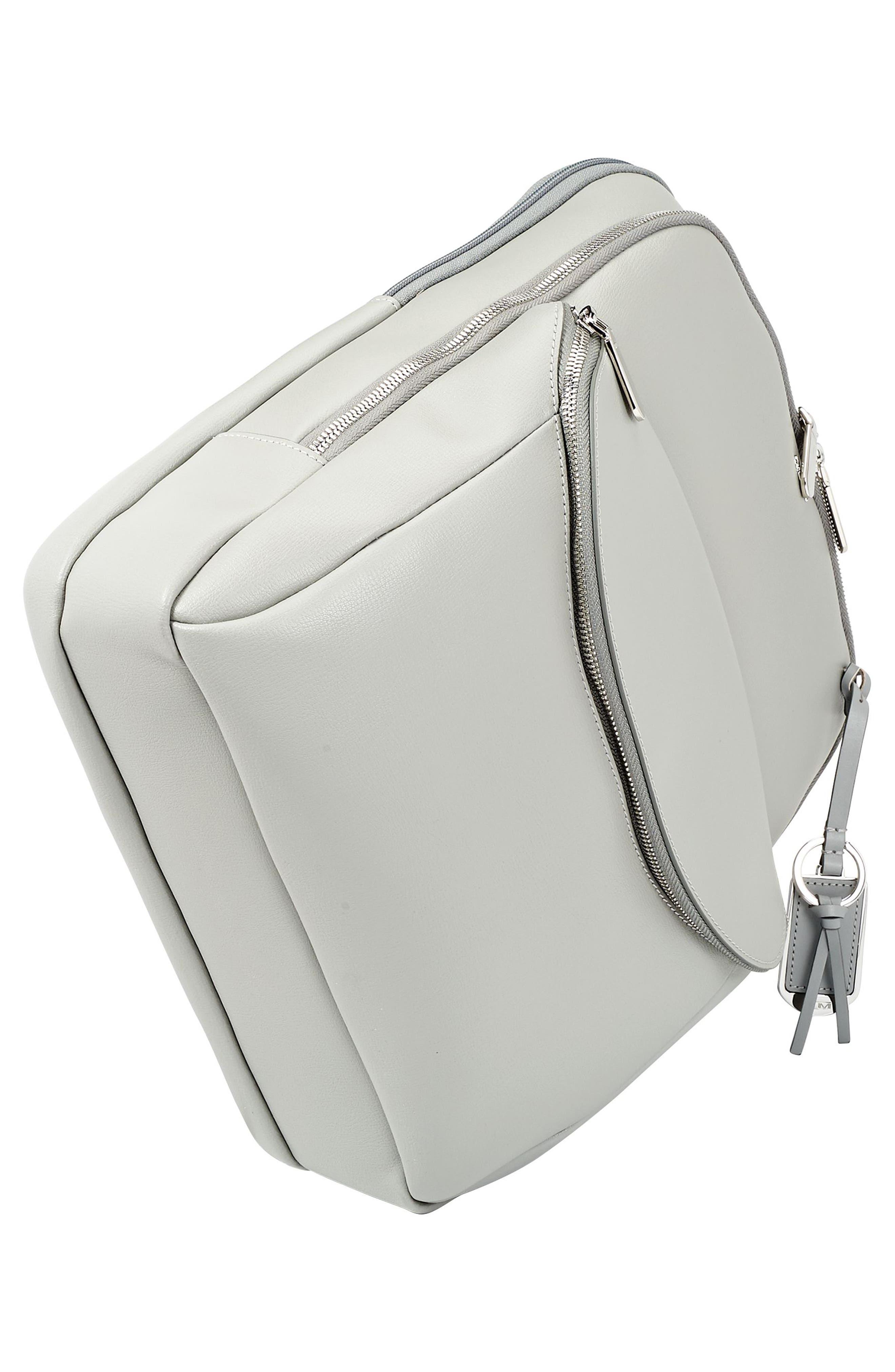 Stanton Hettie Leather Backpack,                             Alternate thumbnail 5, color,                             Light Grey