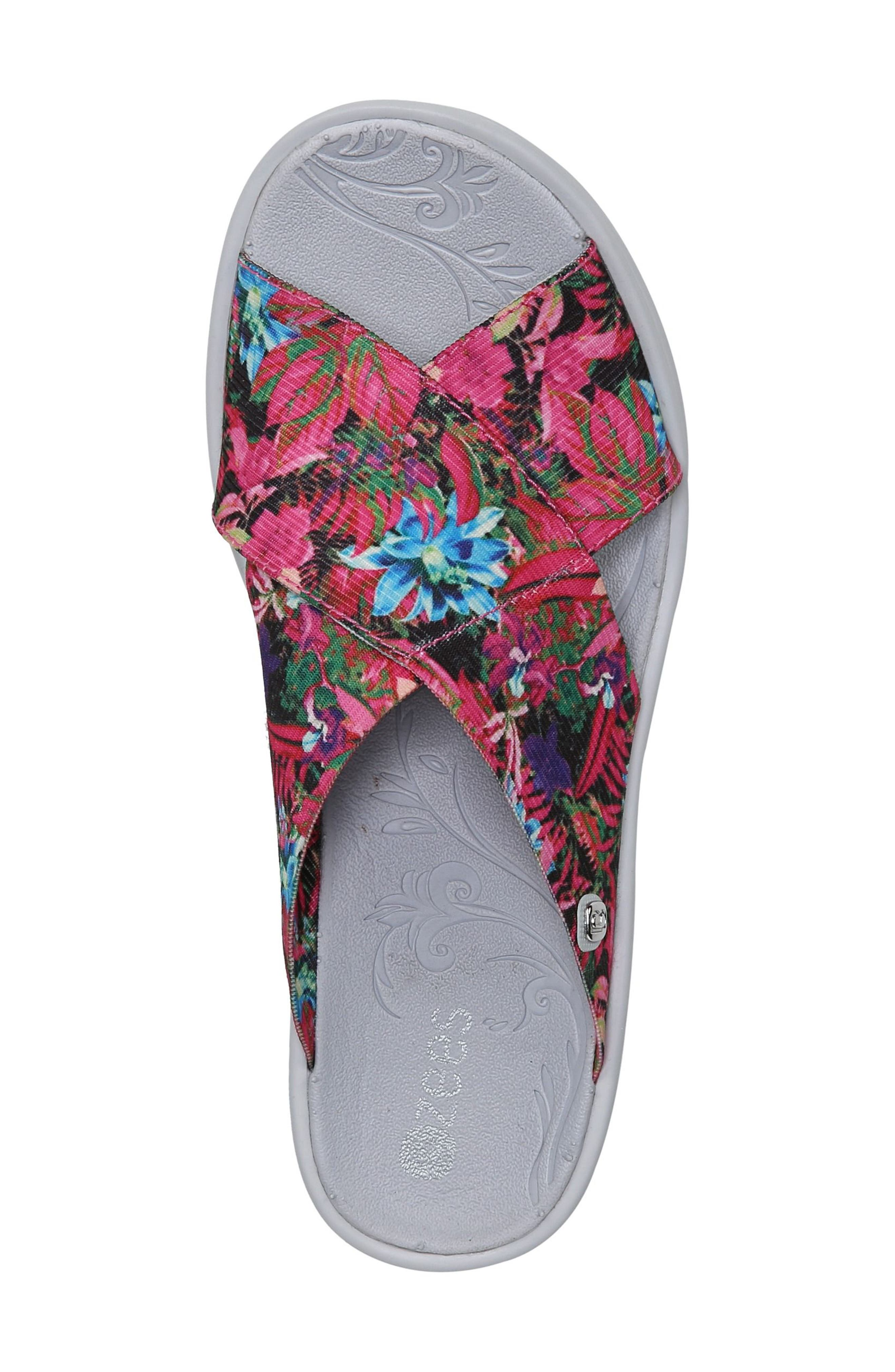 'Desire' Wedge Sandal,                             Alternate thumbnail 5, color,                             Pink Floral Fabric
