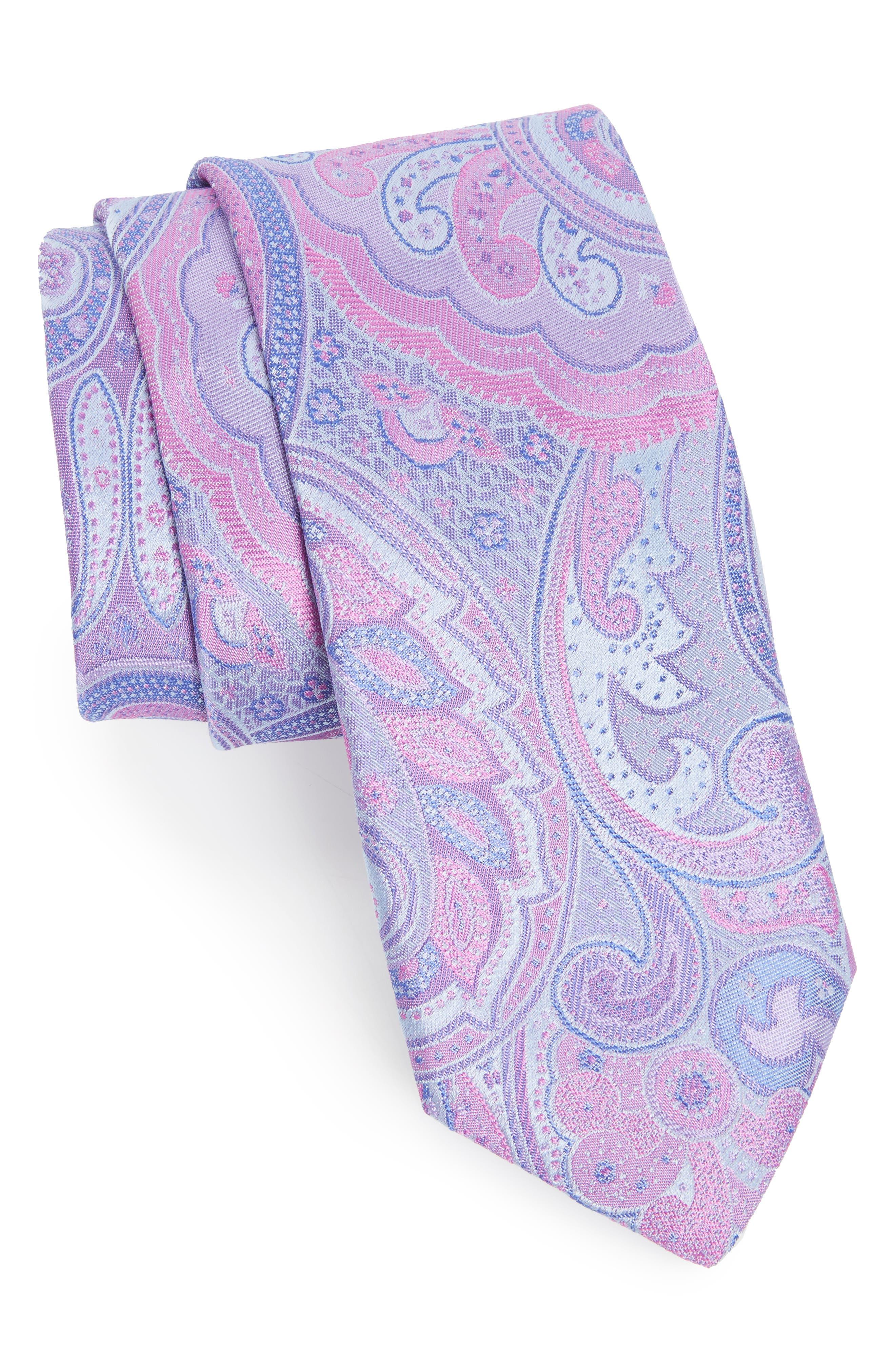 Alternate Image 1 Selected - Ted Baker London Paisley Silk Tie