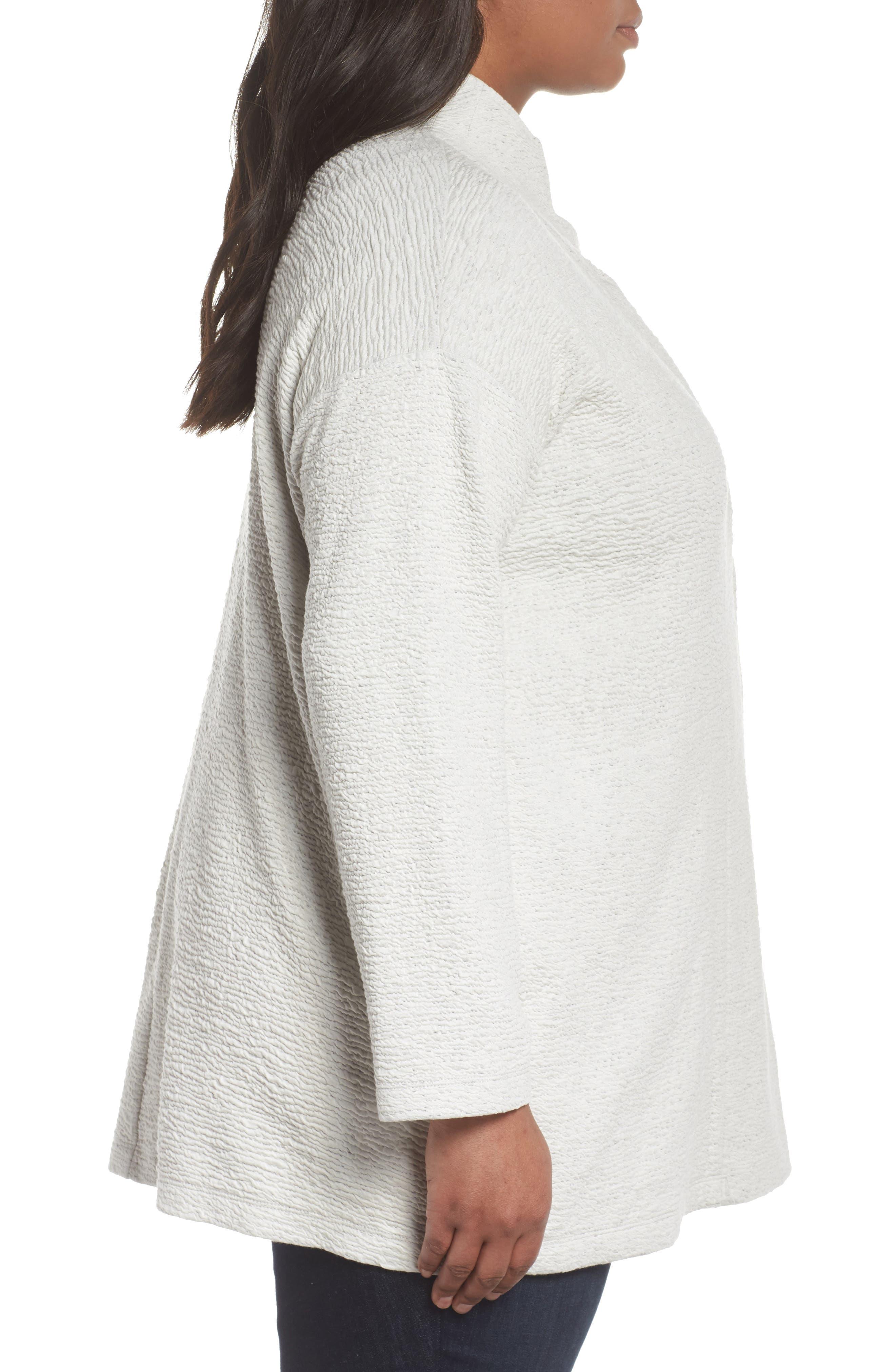 Textured Tencel<sup>®</sup> Lyocell Kimono Jacket,                             Alternate thumbnail 3, color,                             White