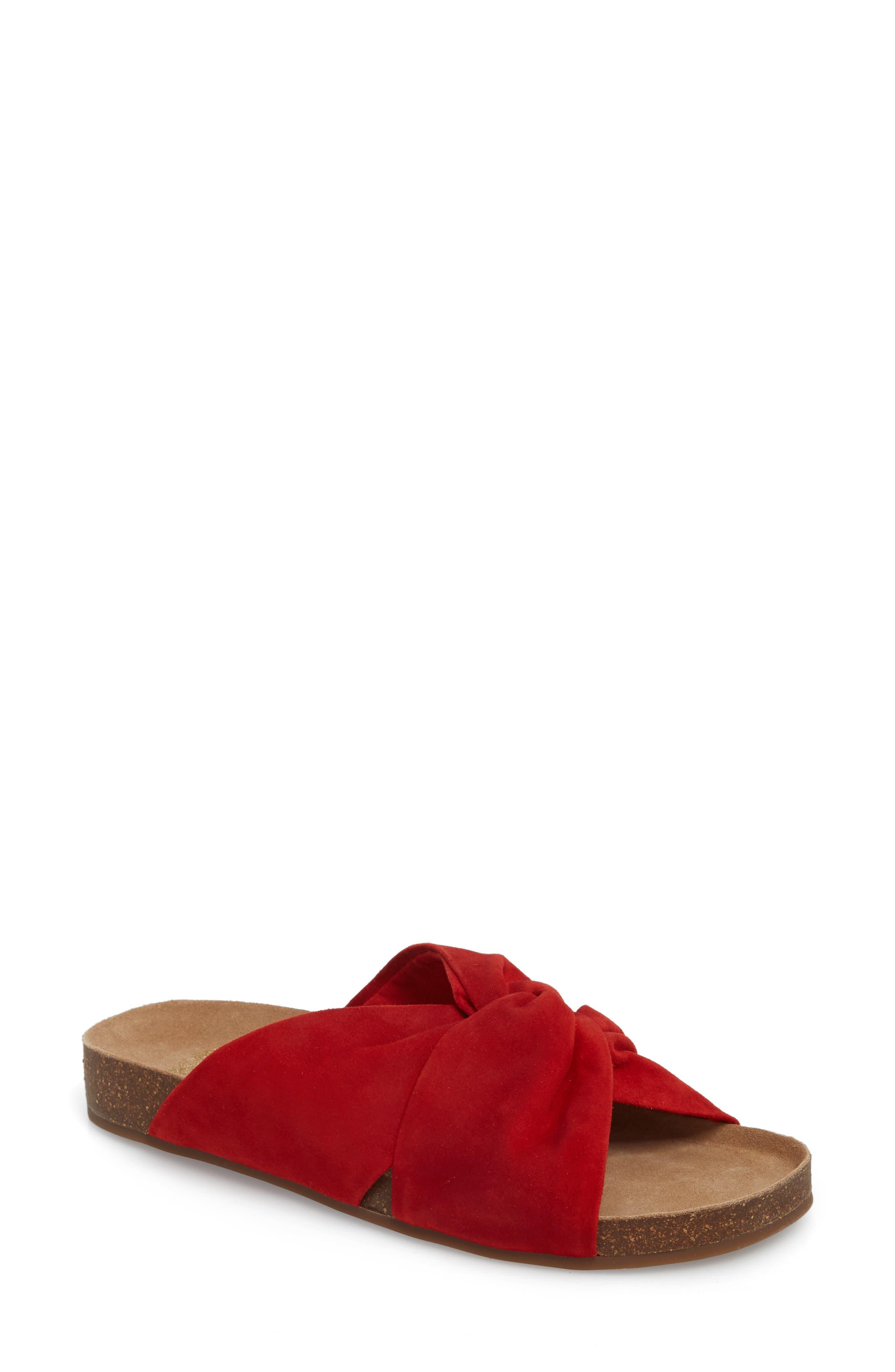 Biminti Slide Sandal,                         Main,                         color, Red Hot Rio