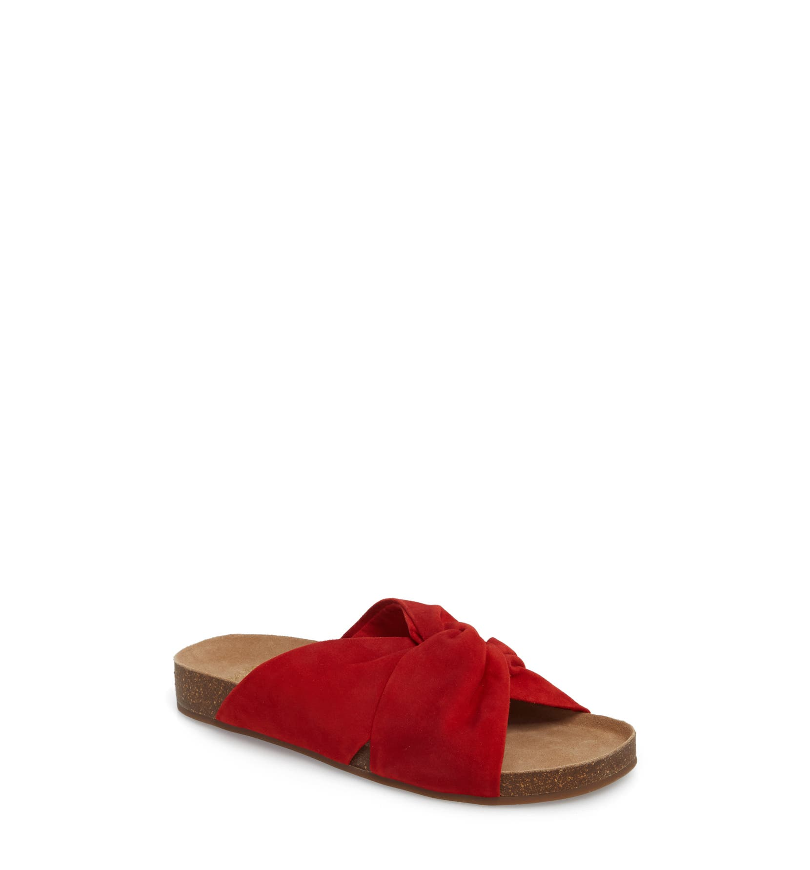 Biminti Slide Sandal,                         Main,                         color, Red Hot Rio