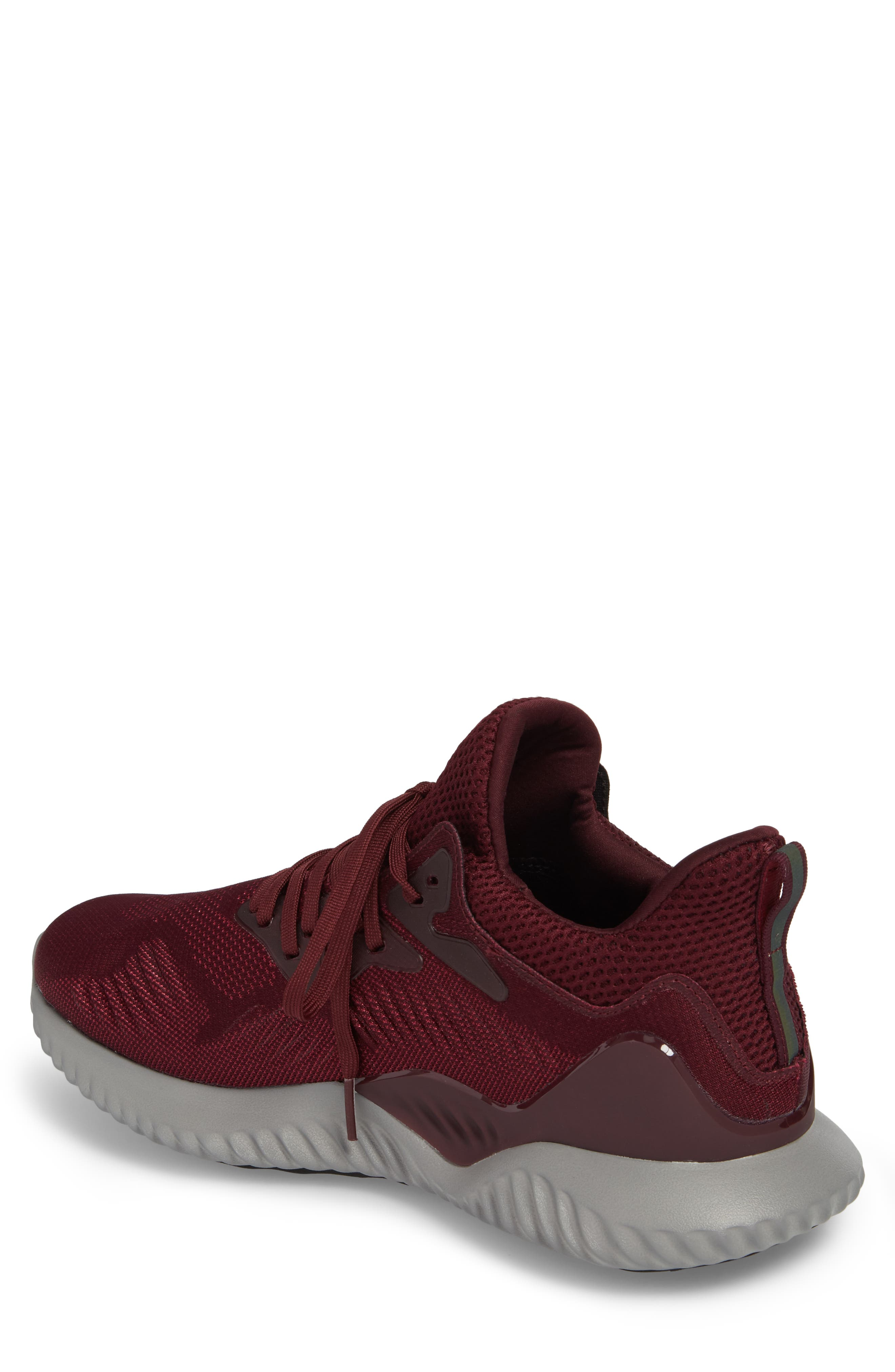 AlphaBounce Beyond Knit Running Shoe,                             Alternate thumbnail 2, color,                             Maroon/ Mystery Ruby