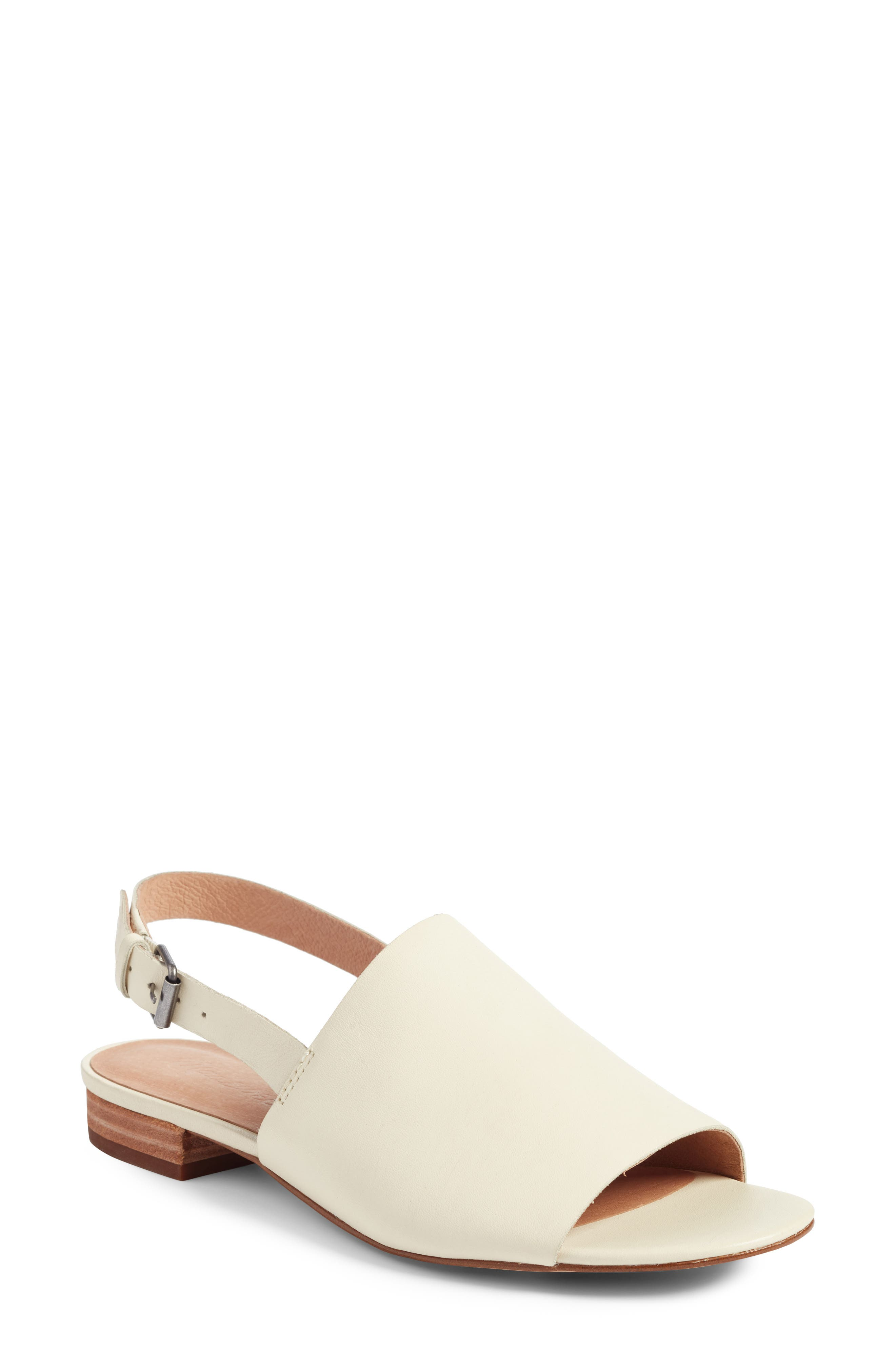 Noelle Slingback Sandal,                         Main,                         color, Vintage Canvas Leather