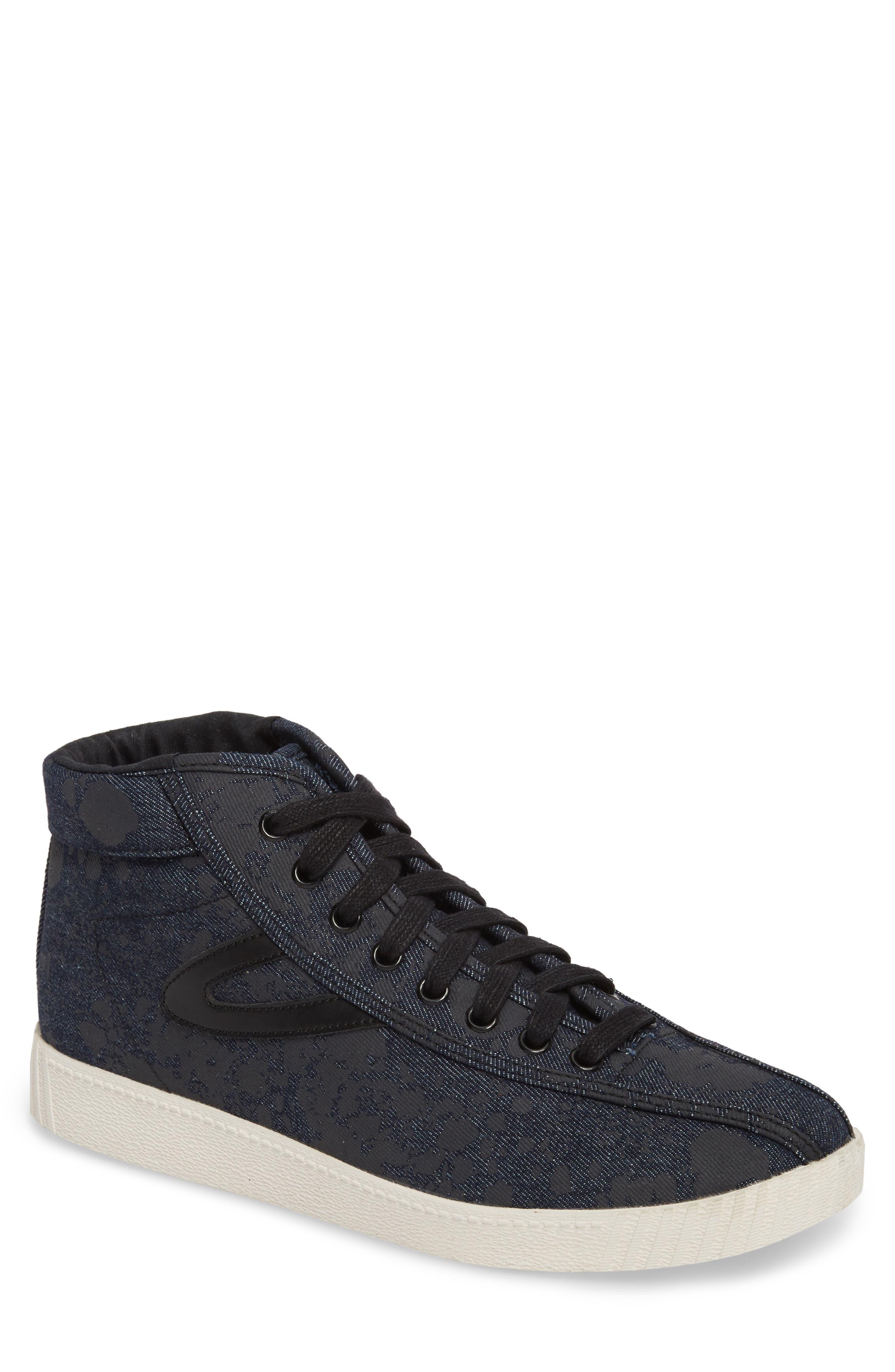 Nylite High Top Sneaker,                         Main,                         color, Nero Opaco/ Black Denim