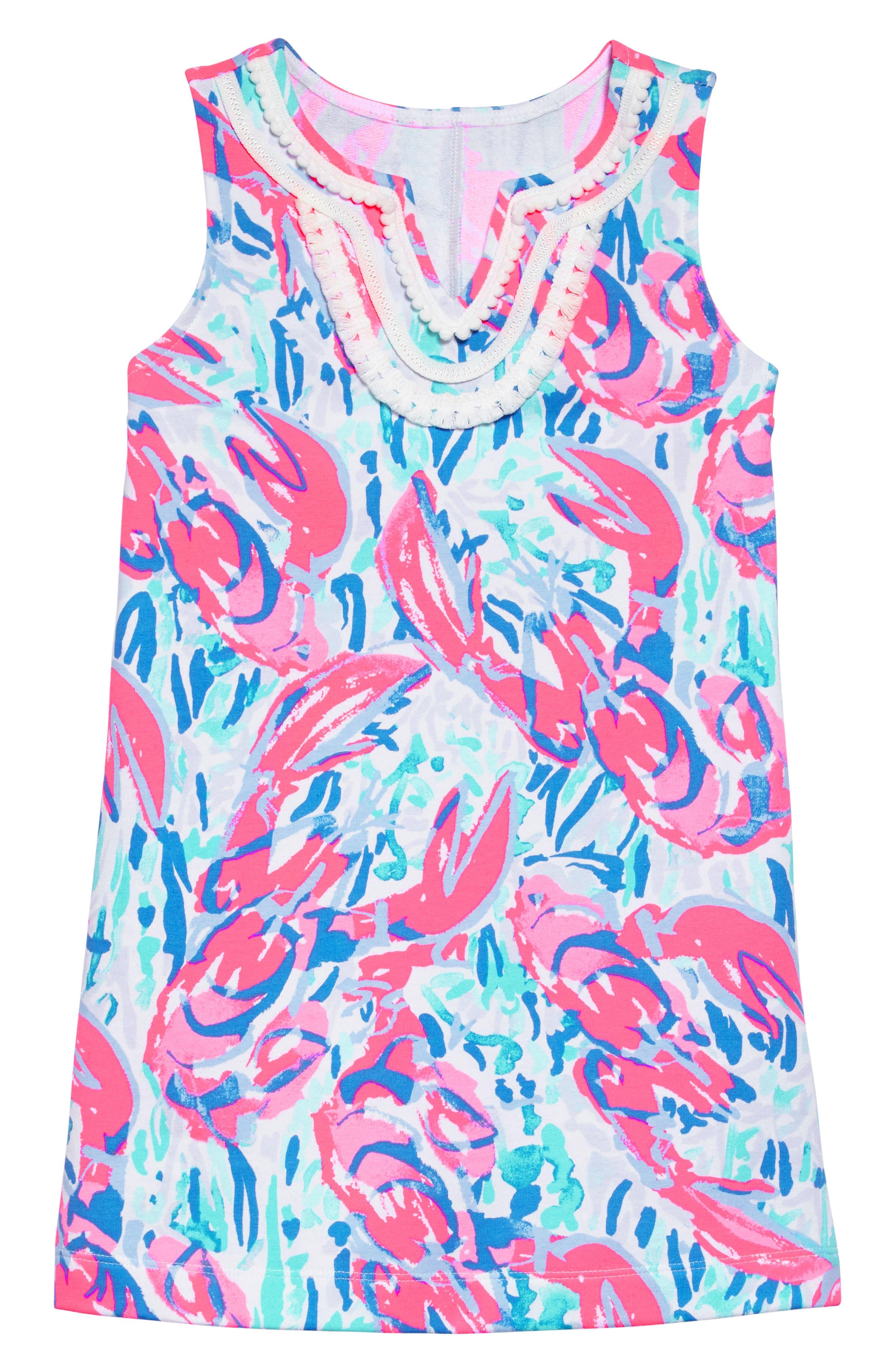 Mini Harper Shift Dress,                         Main,                         color, Cosmic Coral Cracked Up