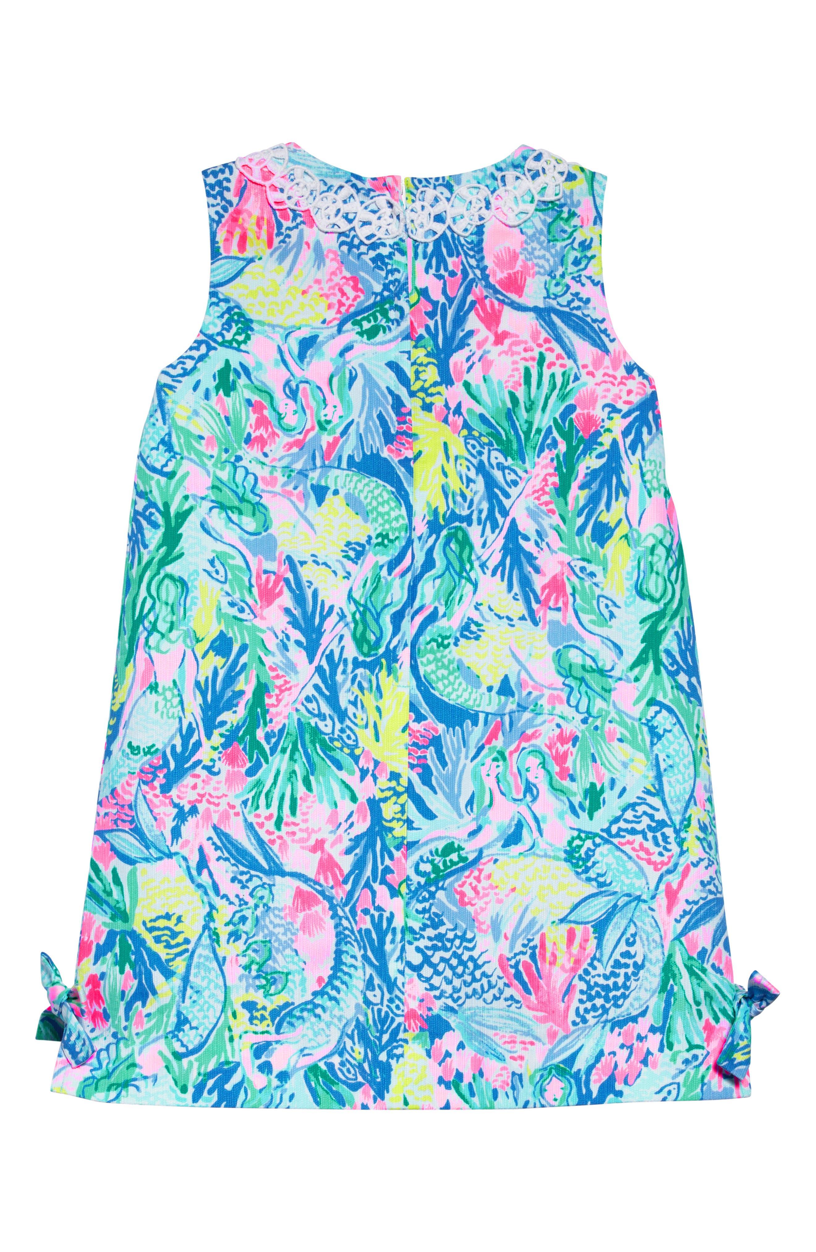 Little Lilly Classic Shift Dress,                             Alternate thumbnail 2, color,                             Multi Mermaids Cove