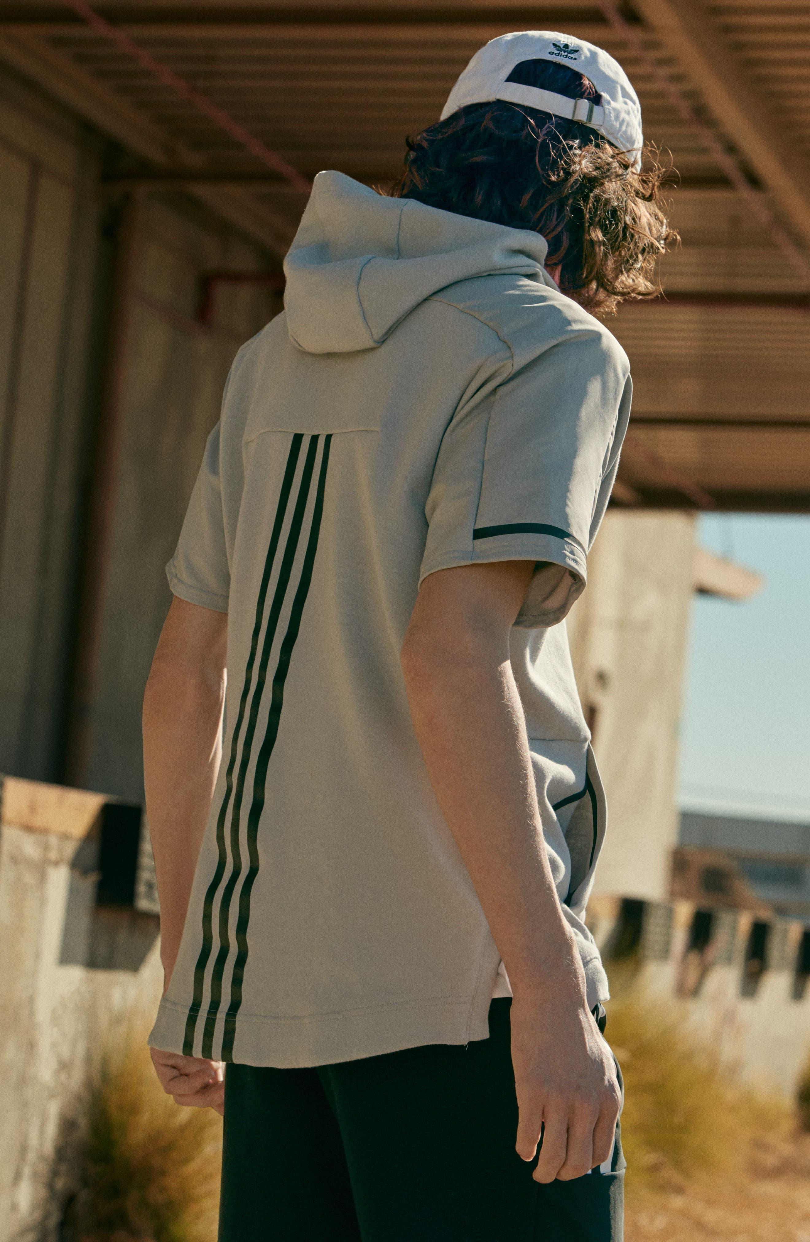 Alternate Image 6  - adidas SQD Short Sleeve Hoodie