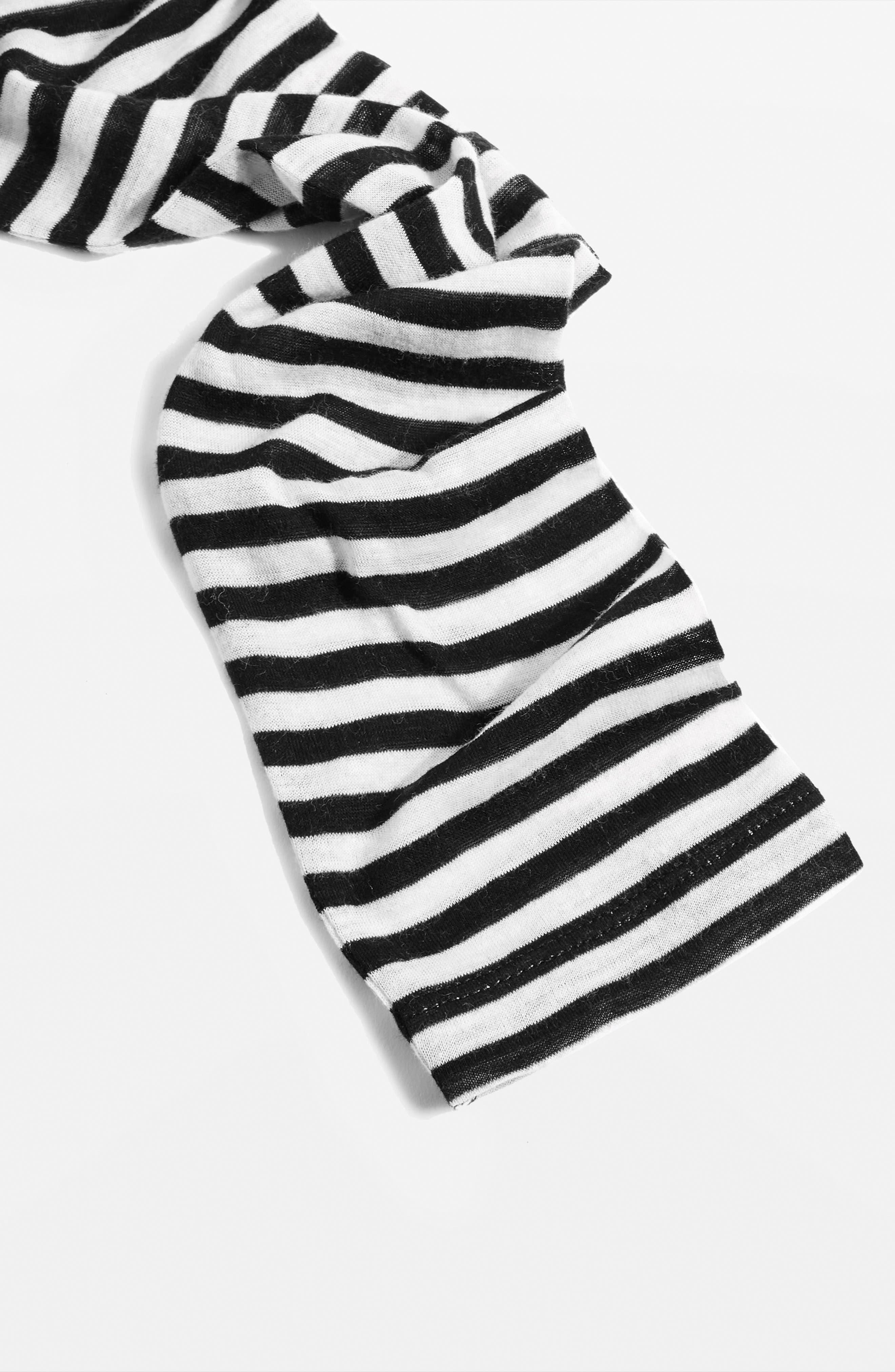 Topshop Stripe Slub Shirt,                             Alternate thumbnail 3, color,                             Black Multi