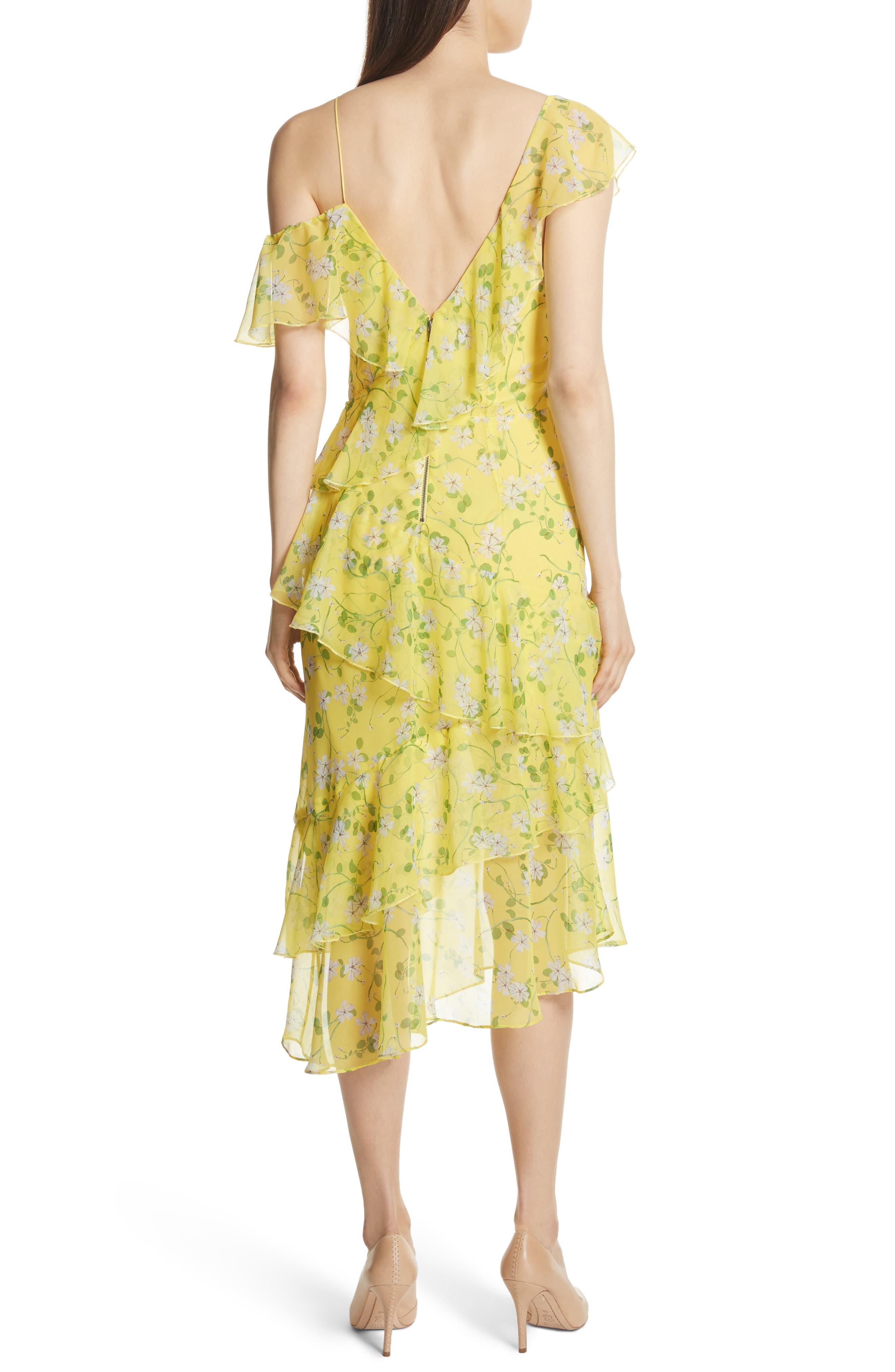 Alternate Image 2  - Alice + Olivia Olympia Asymmetrical Print Silk Dress