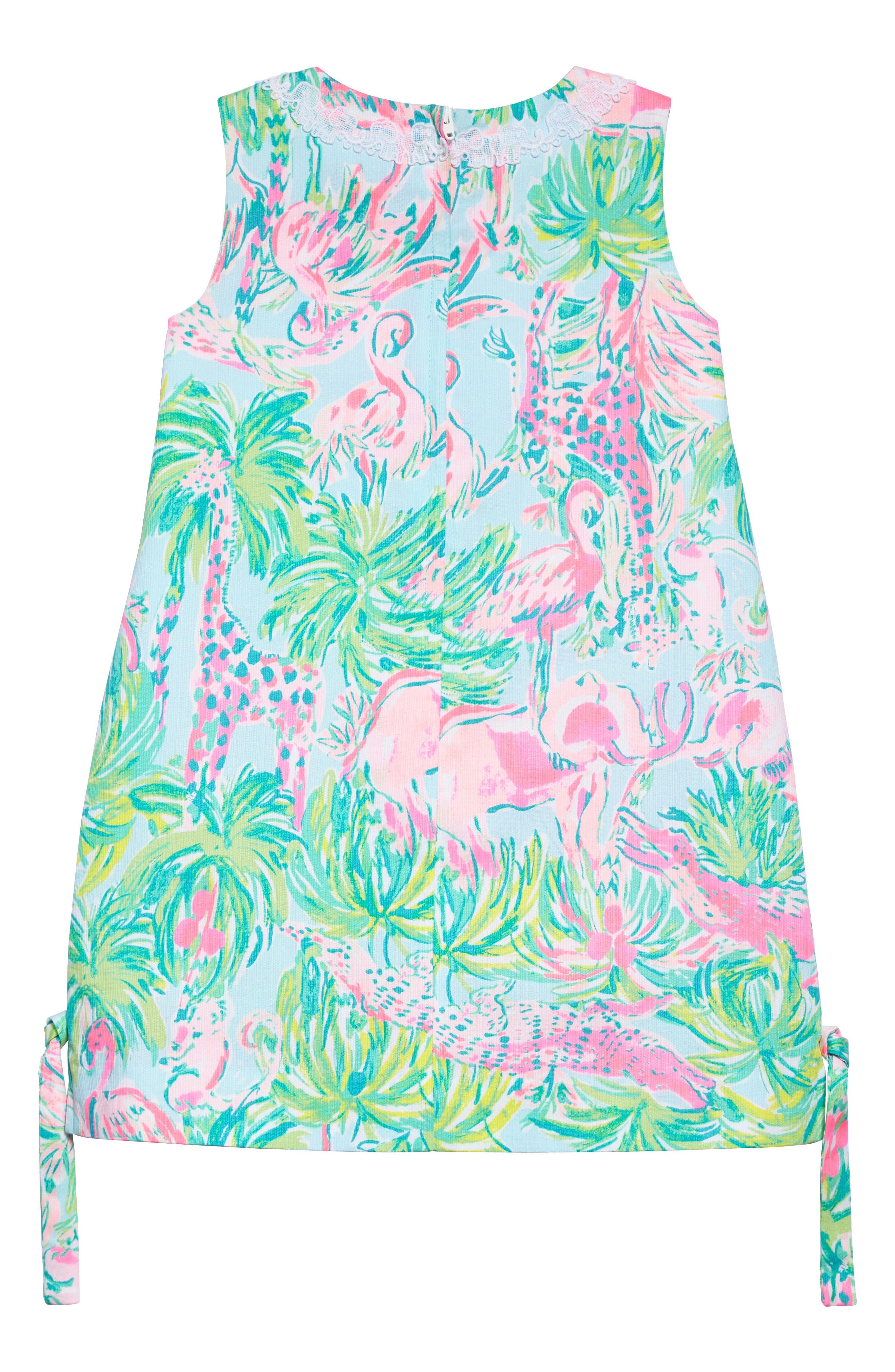 Little Lilly Shift Dress,                             Alternate thumbnail 2, color,                             Seasalt Blue On Parade