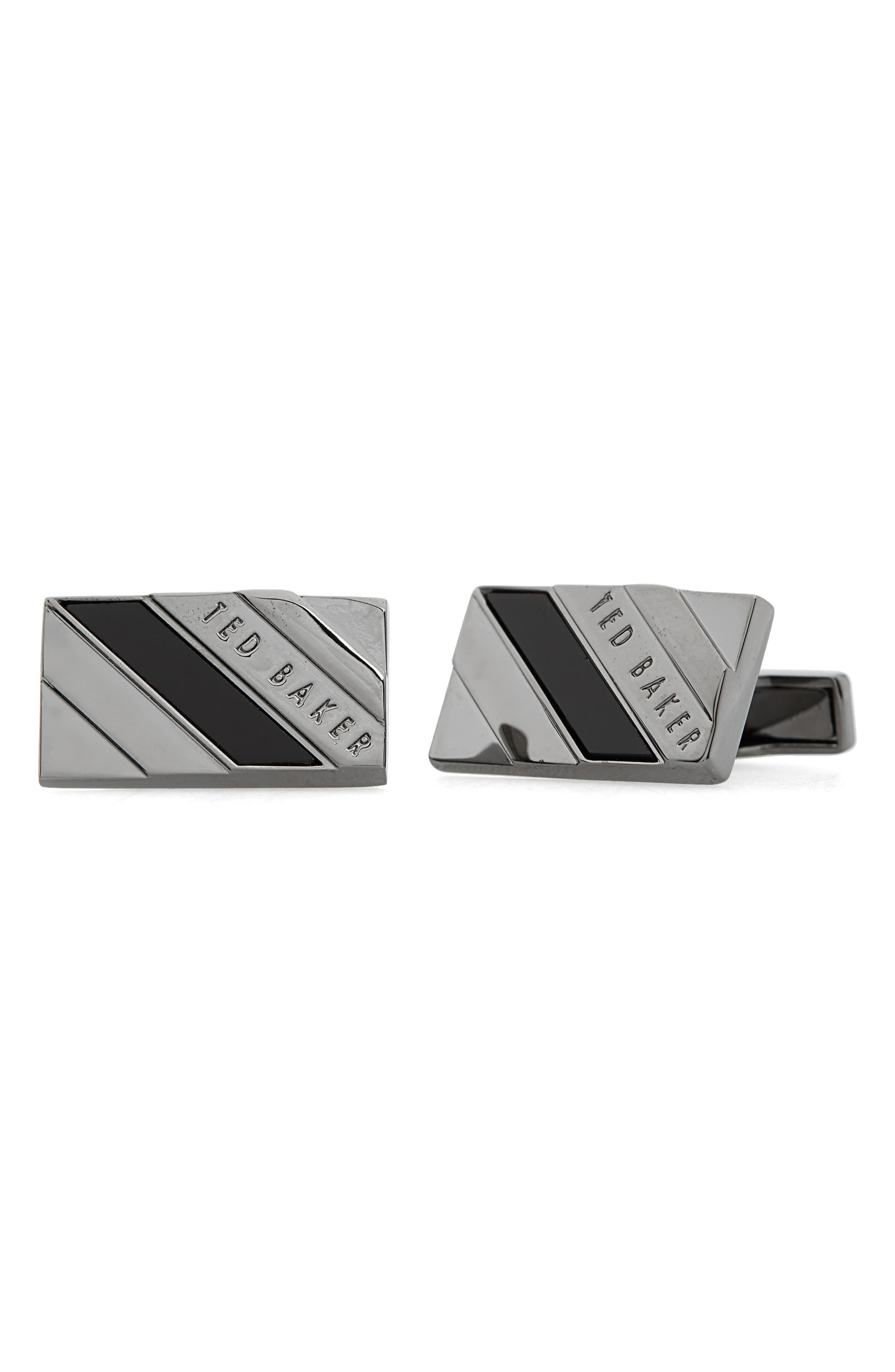 Ceaser Cuff Links,                         Main,                         color, Gunmetal