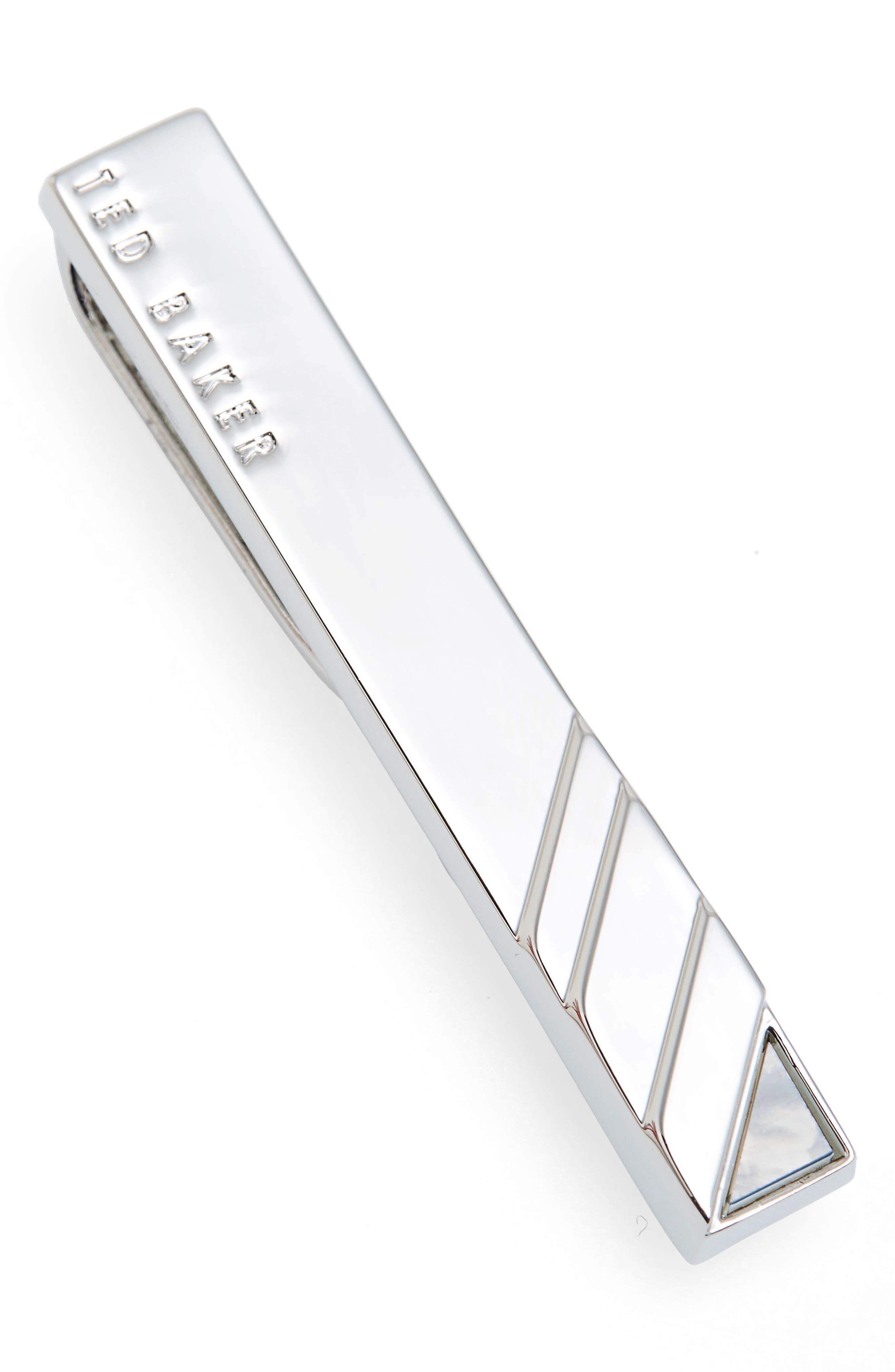 Yogas Tie Bar,                         Main,                         color, Silver Color