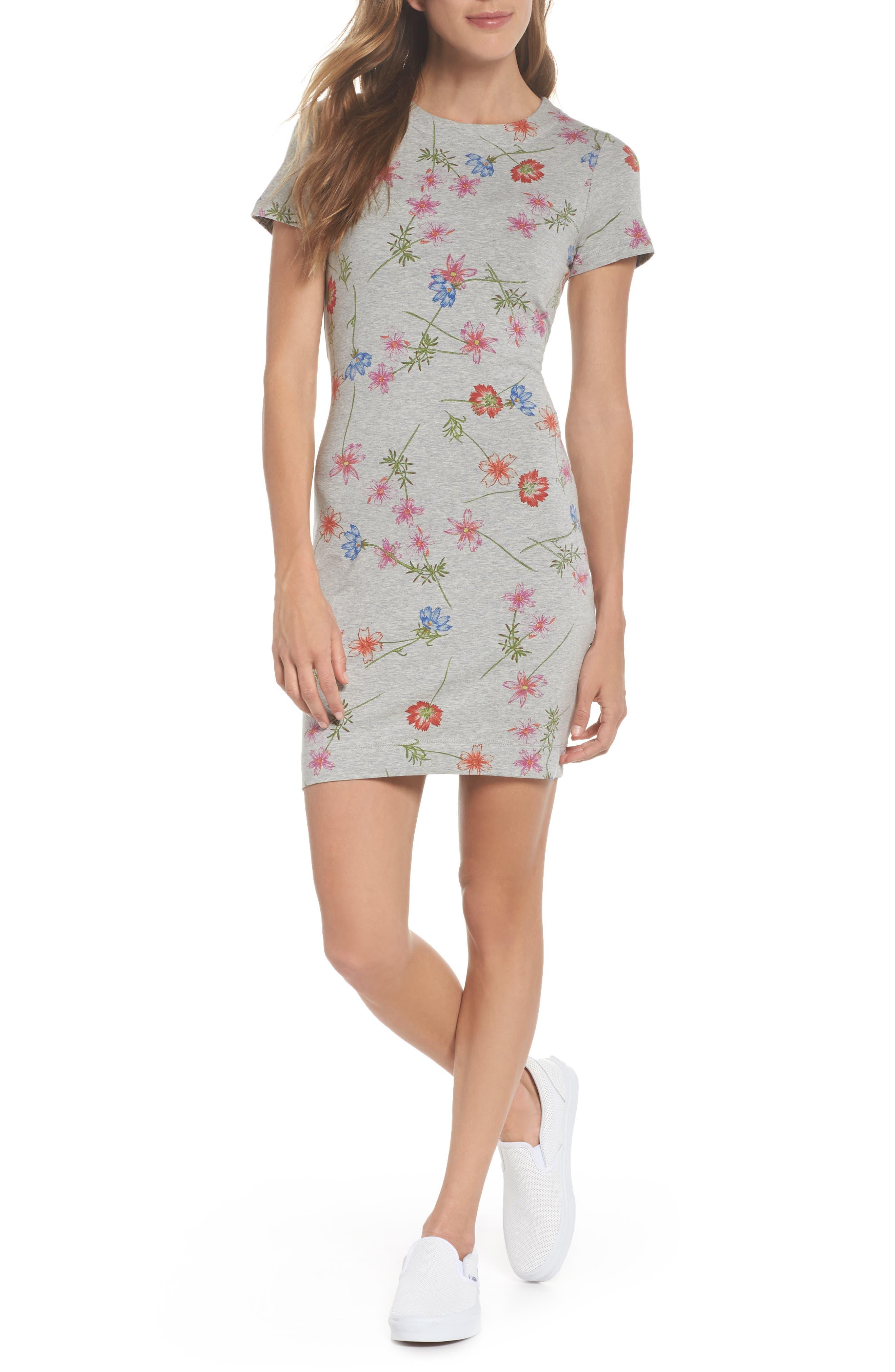 Botero Daisy Jersey Dress,                         Main,                         color, Grey Mel Multi