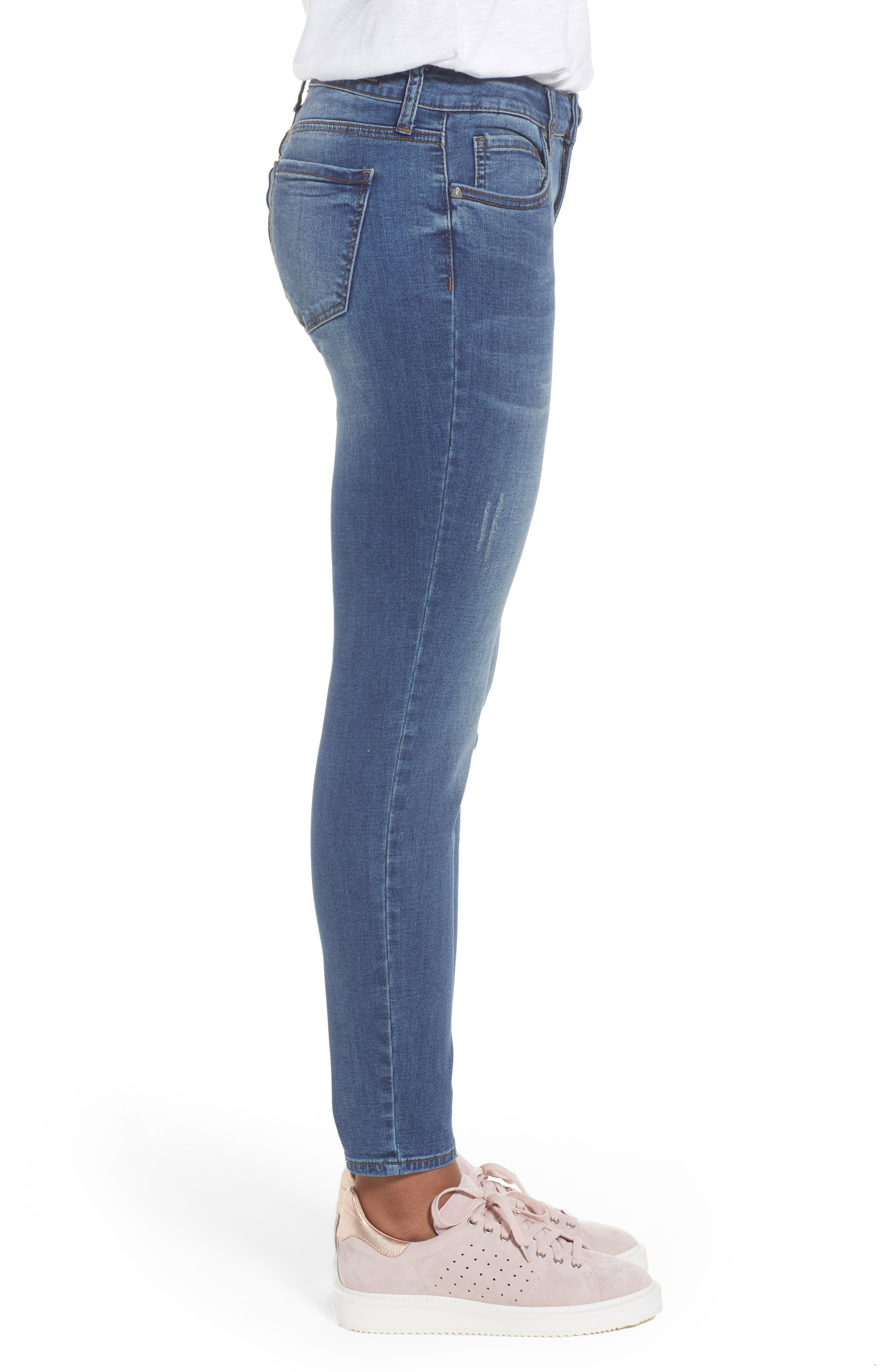 Donna Skinny Ankle Jeans,                             Alternate thumbnail 3, color,                             Engaged