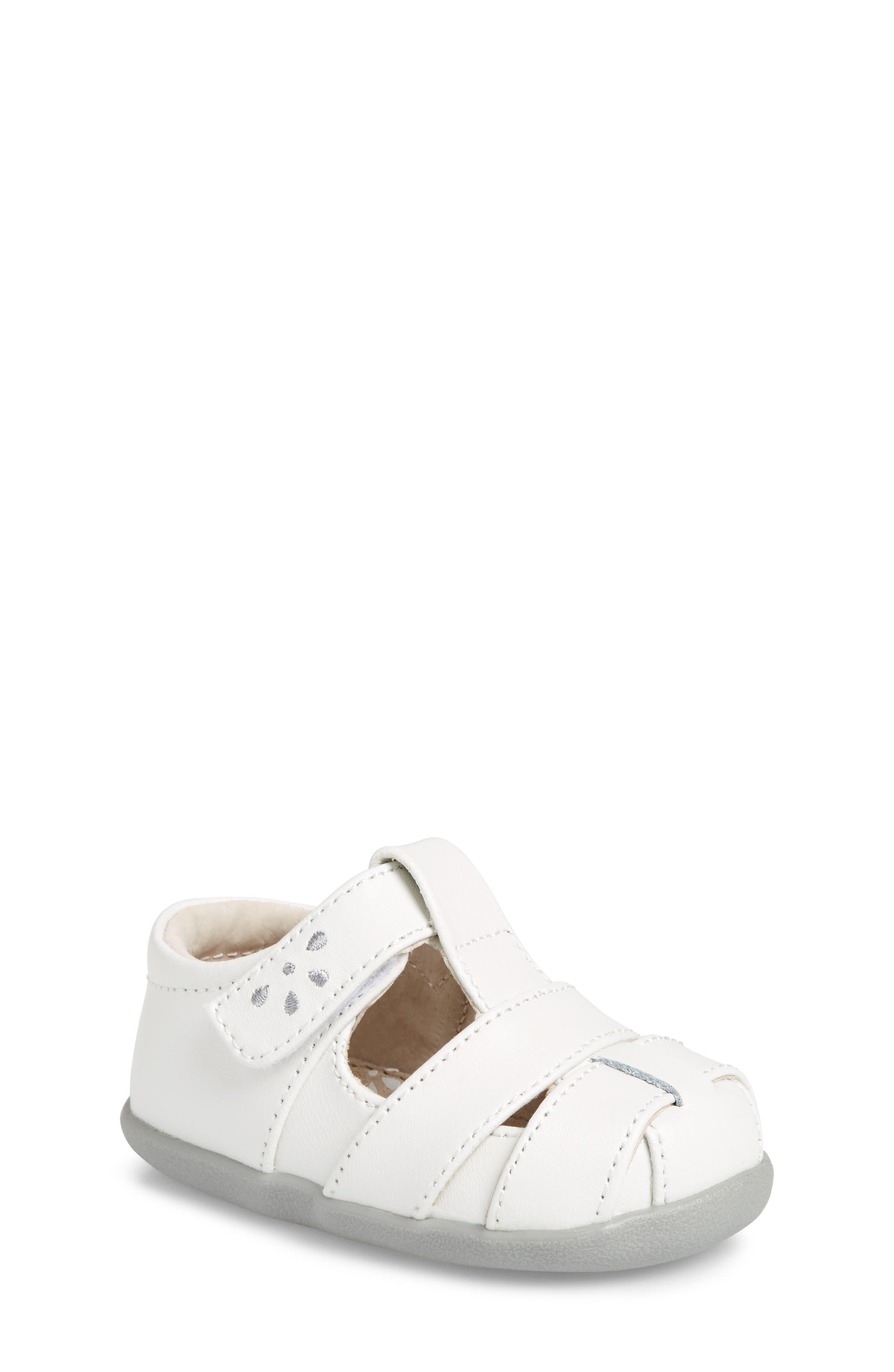 Brook III Sandal,                             Main thumbnail 1, color,                             White