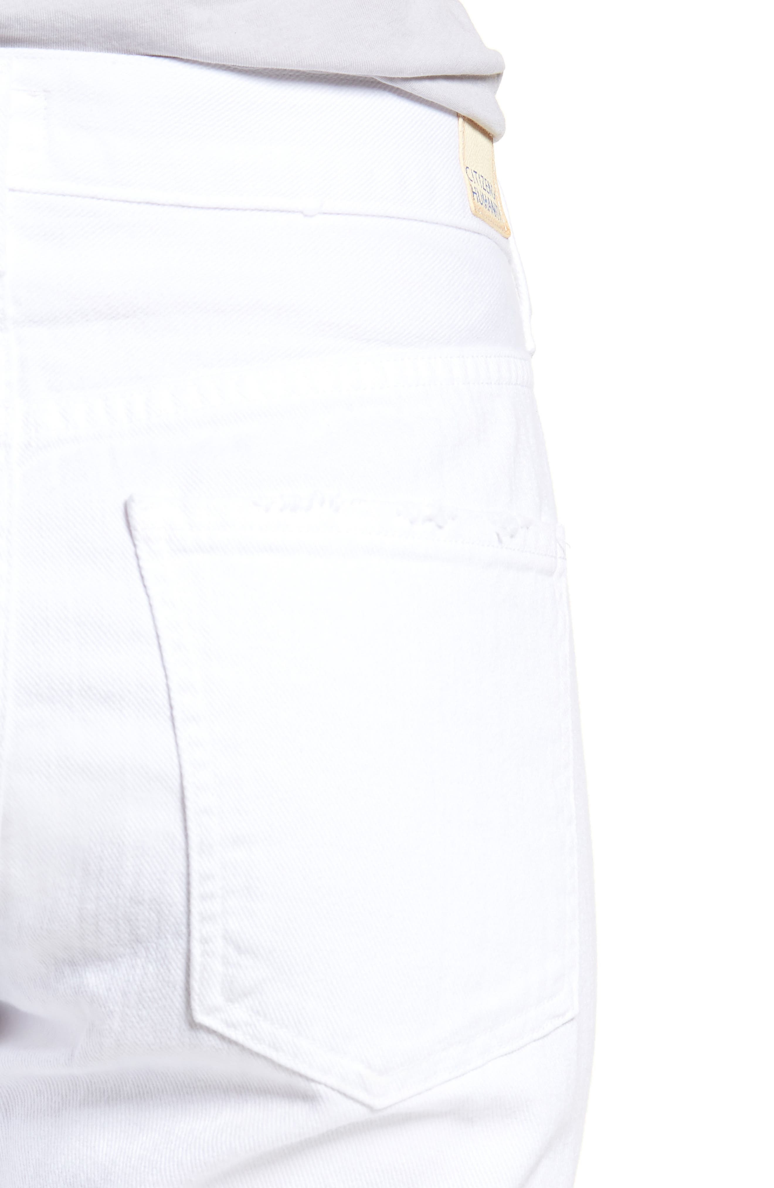 Corey Slouchy Slim Jeans,                             Alternate thumbnail 4, color,                             Distressed White