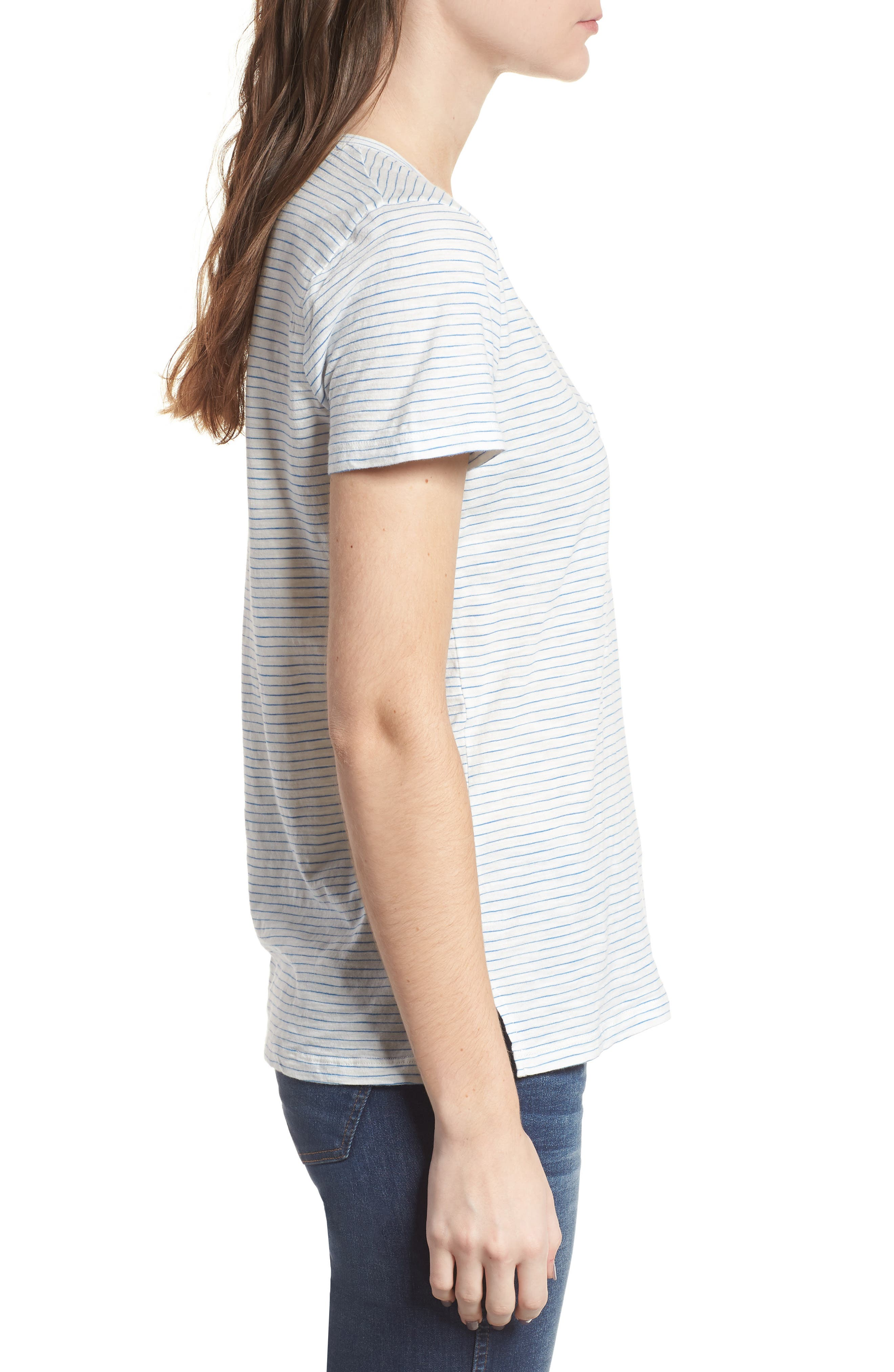 Alternate Image 3  - Madewell Whisper Cotton Stripe V-Neck Tee