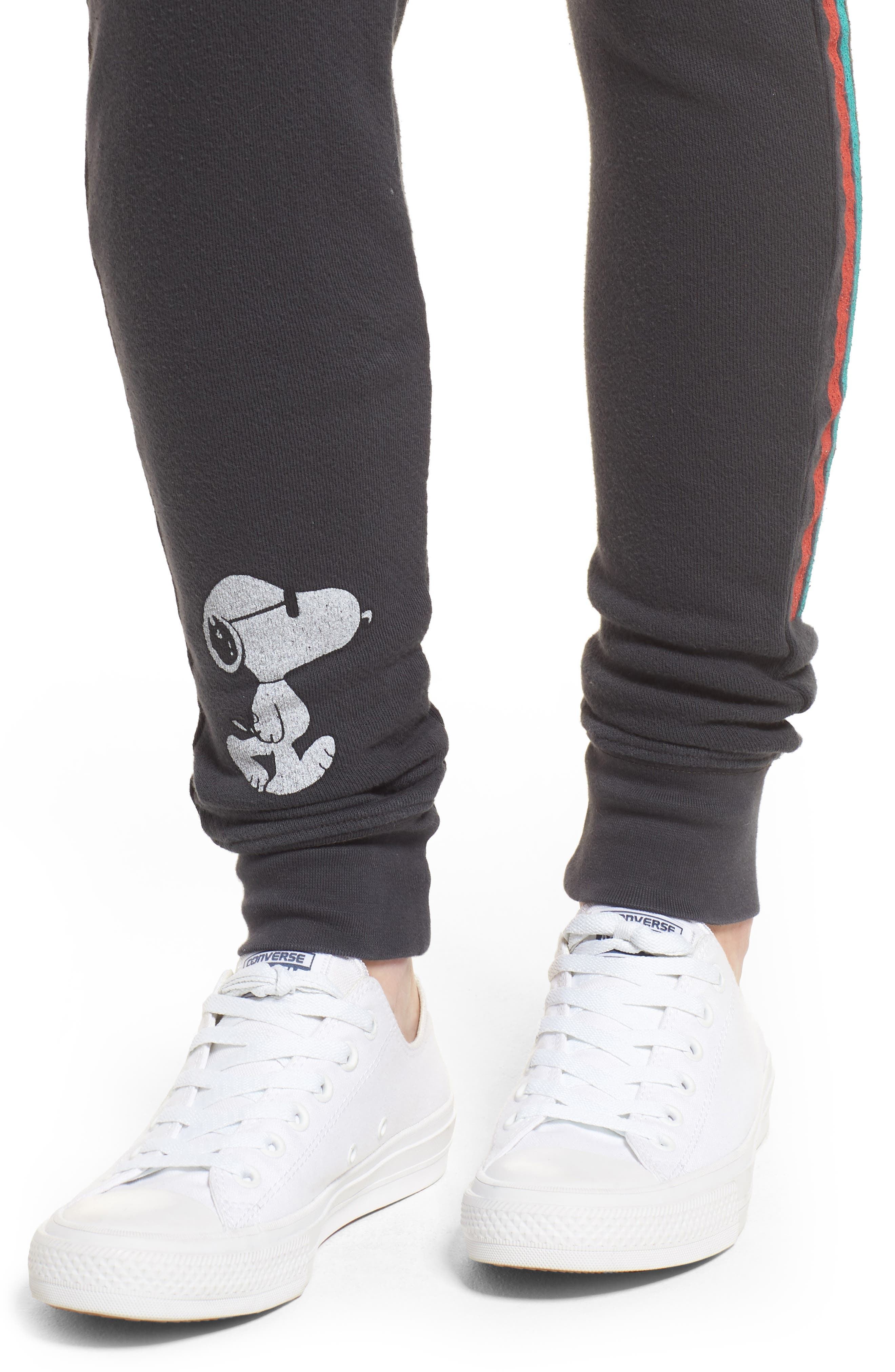 Snoopy Sweatpants,                             Alternate thumbnail 5, color,                             Black