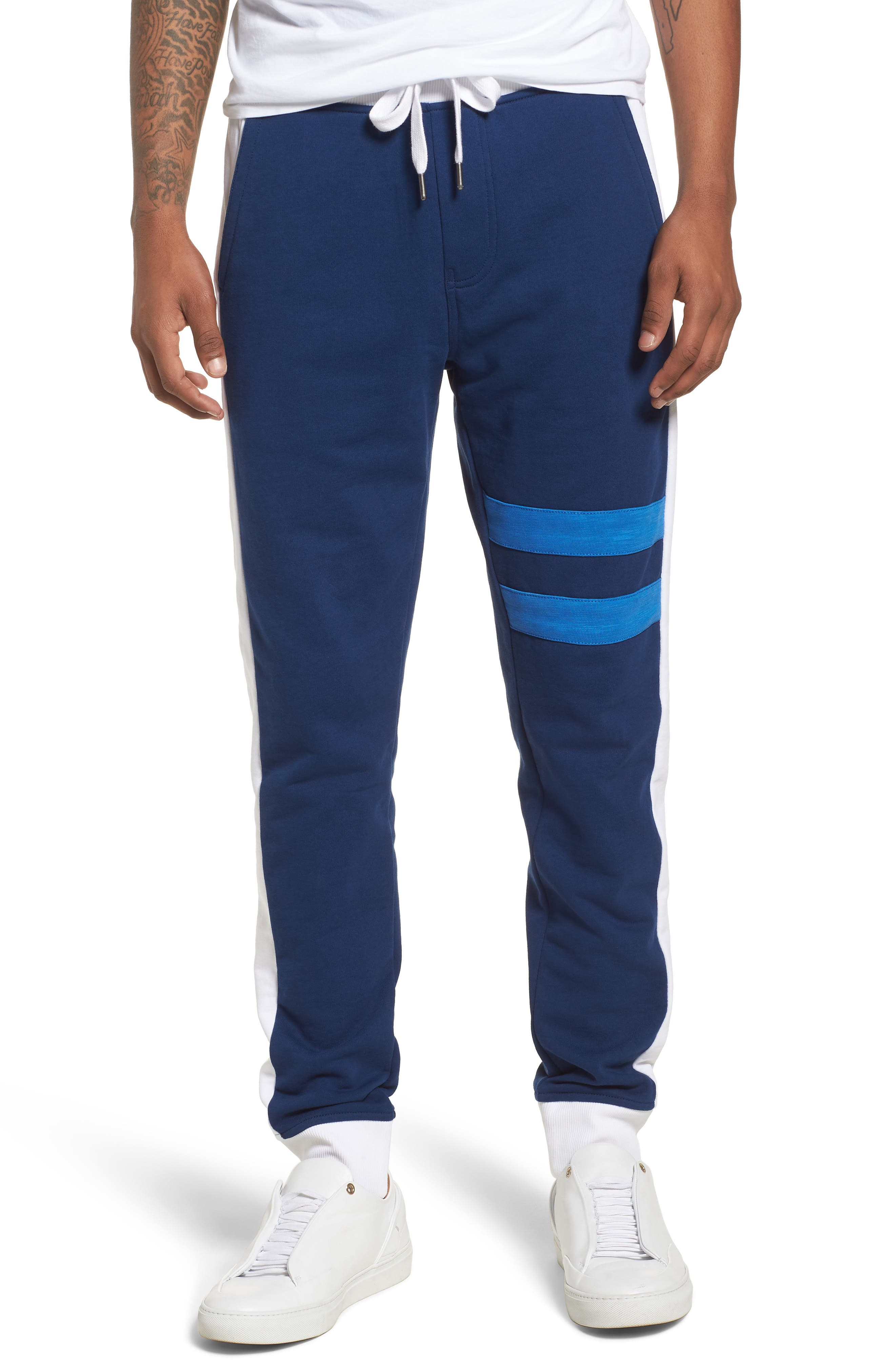 Athletic Collage Sweatpants,                             Main thumbnail 1, color,                             Night Rider