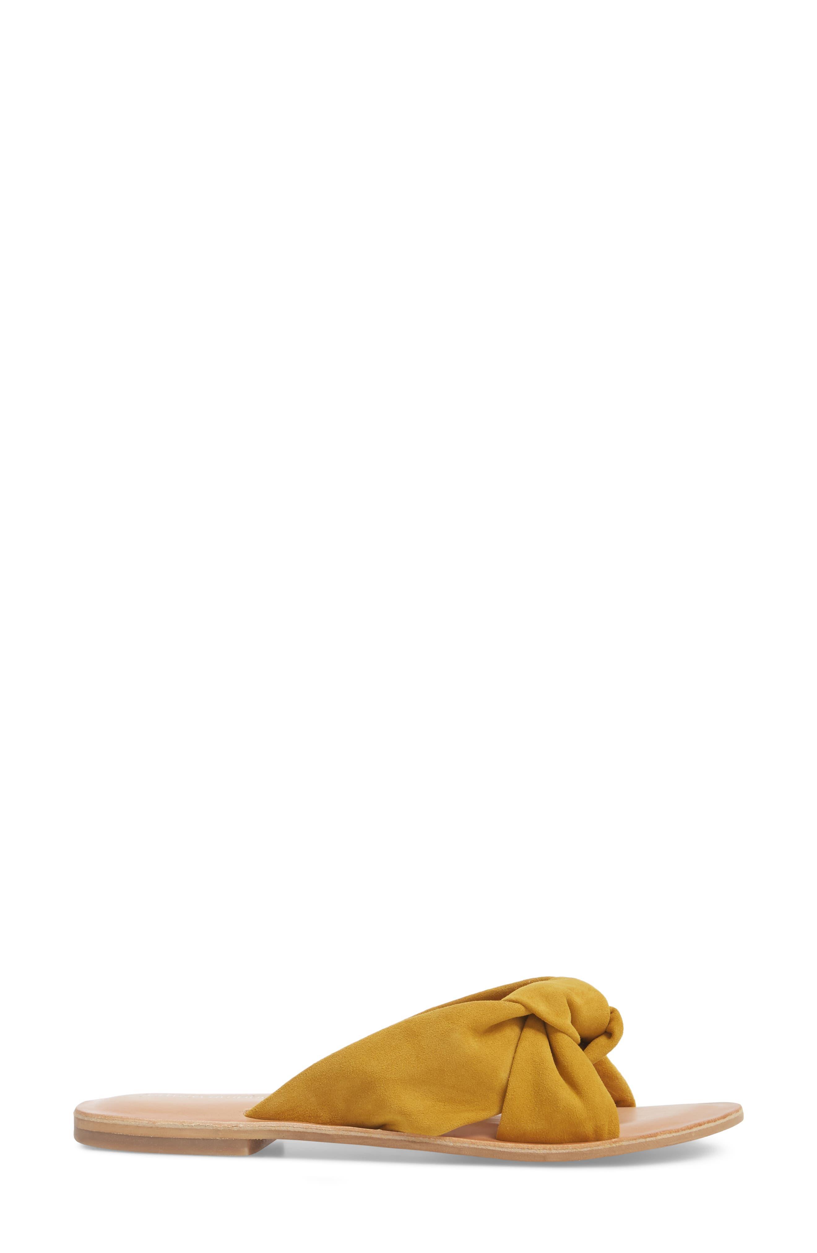 Zocalo Slide Sandal,                             Alternate thumbnail 3, color,                             Mustard Suede