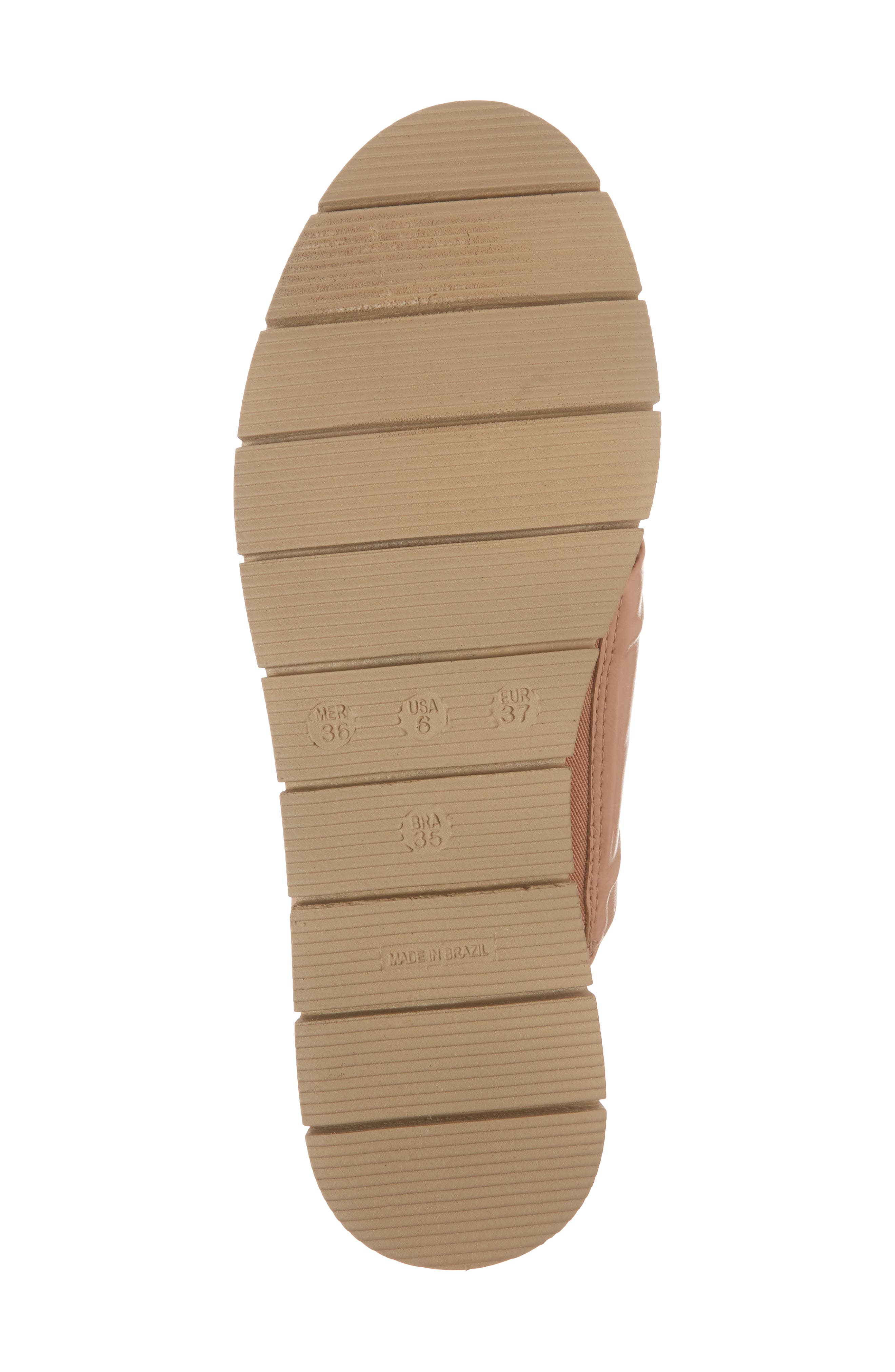 Charlie Slide Sandal,                             Alternate thumbnail 6, color,                             Peach Leather