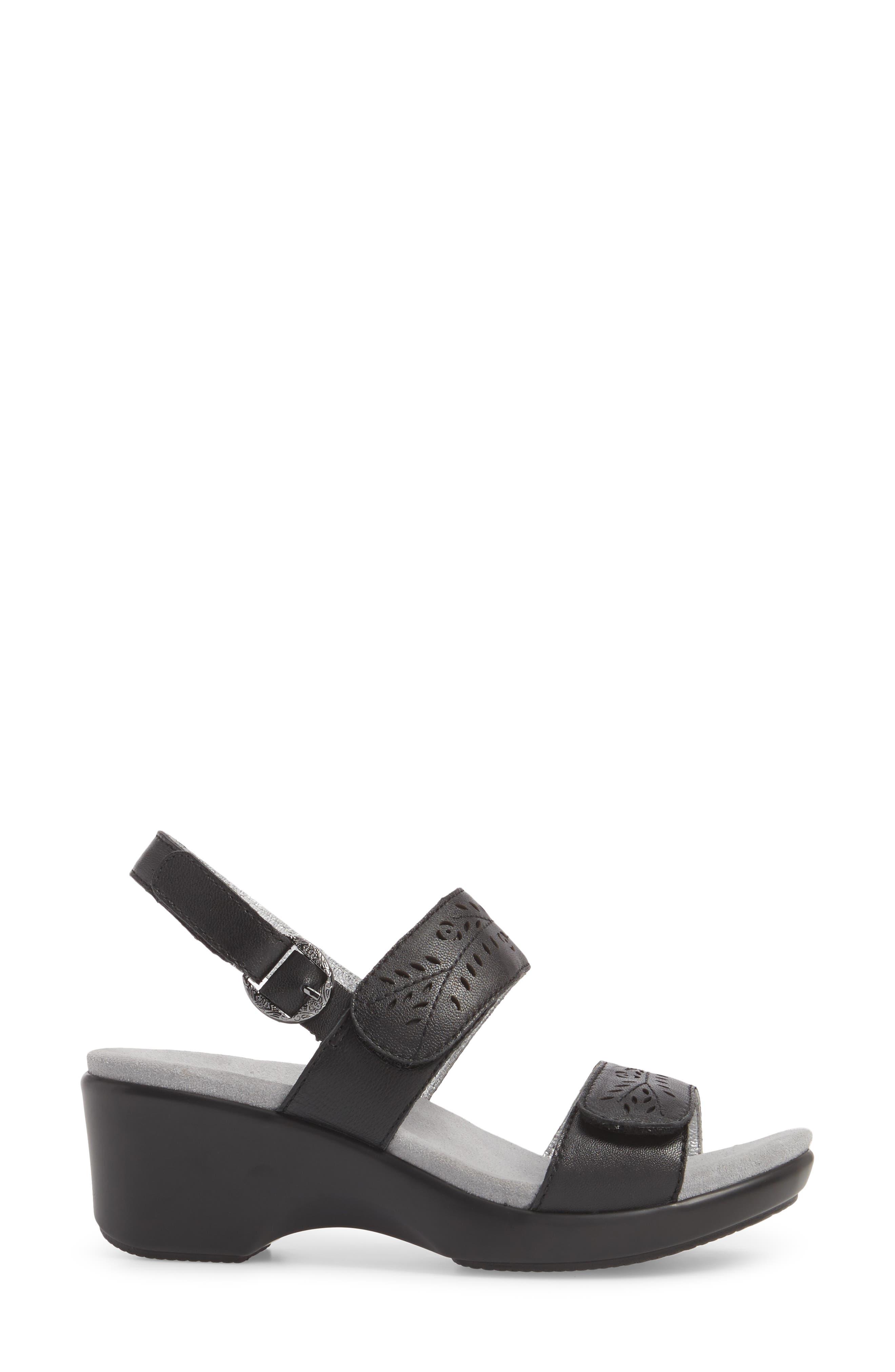 by PG Lite Romi Sandal,                             Alternate thumbnail 3, color,                             Black Burnish Leather