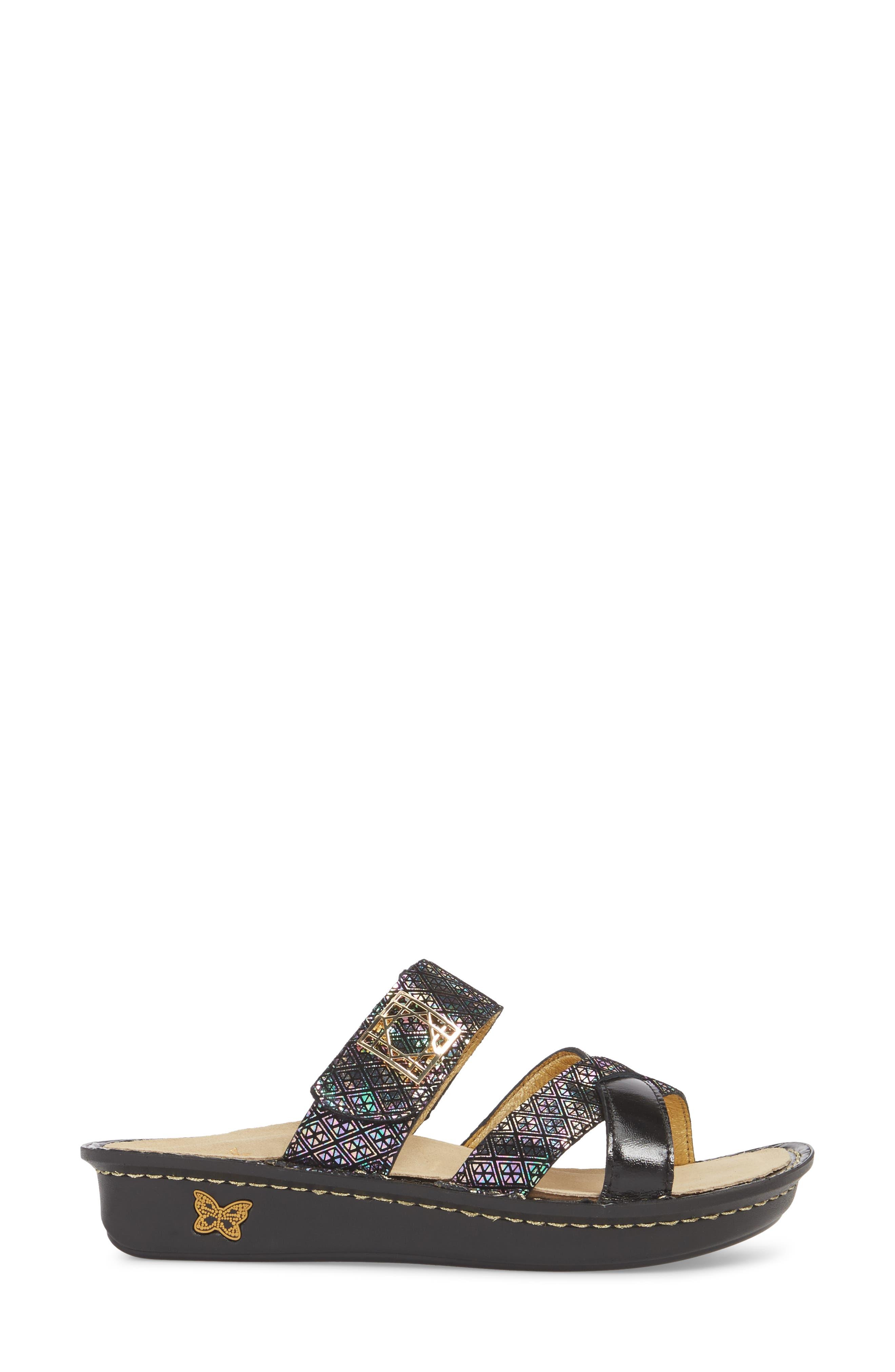 by PG Lite Victoriah Slide Sandal,                             Alternate thumbnail 3, color,                             Diamonds Forever Leather