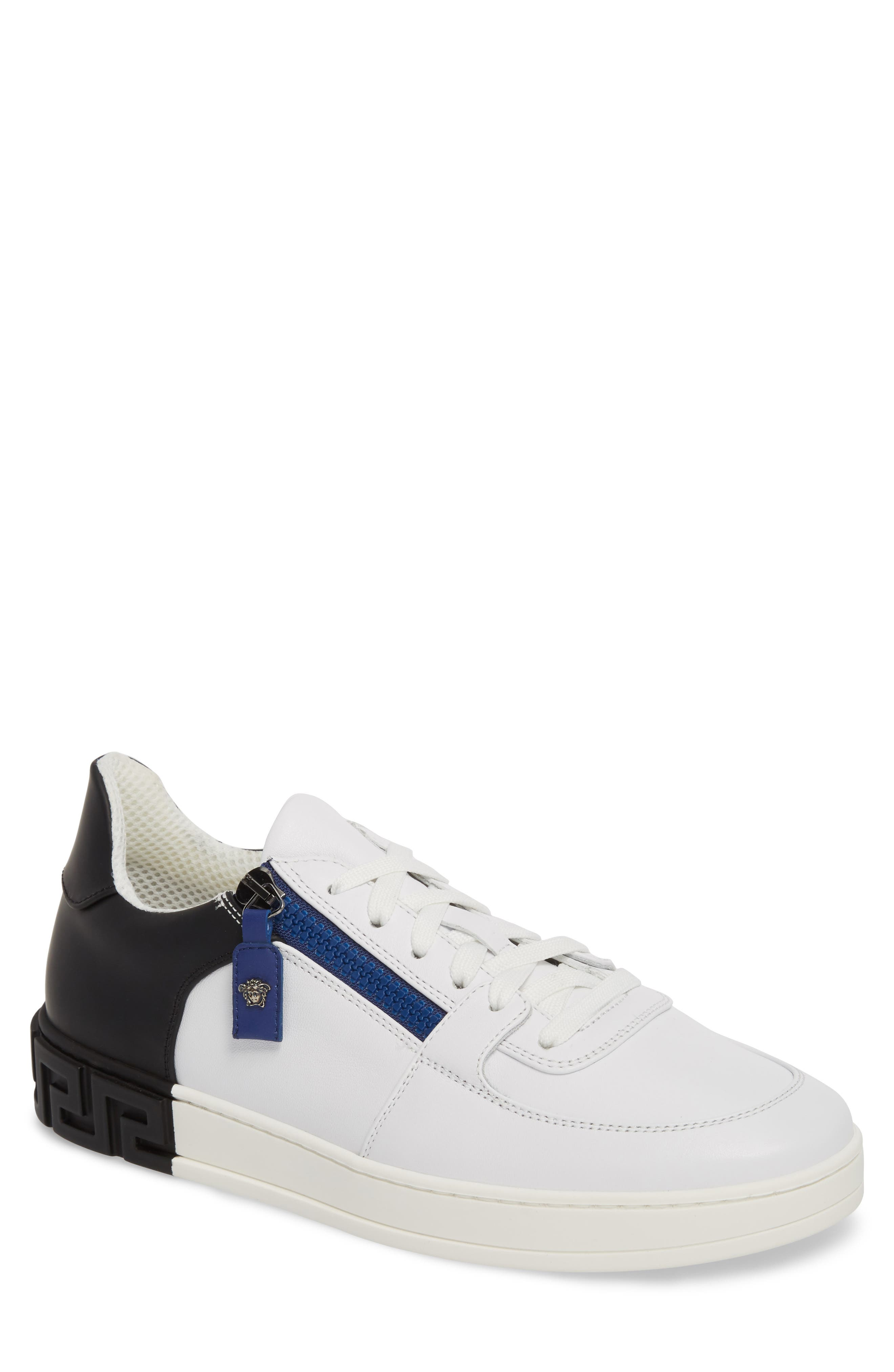 Sneaker,                             Main thumbnail 1, color,                             White/ Black/ Bluette