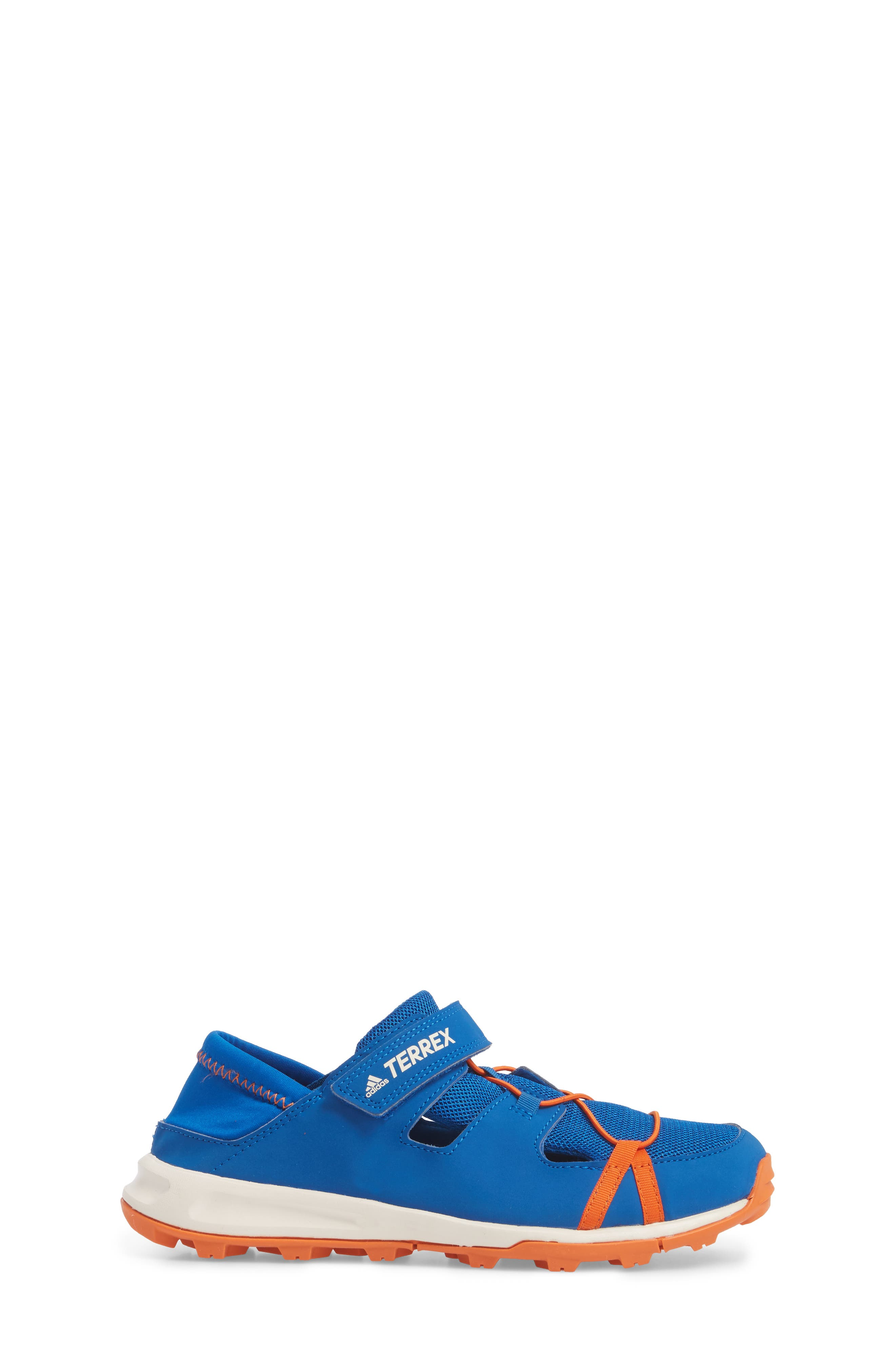 Terrex Tivid Sneaker,                             Alternate thumbnail 3, color,                             Blue/ Orange/ Chalk White