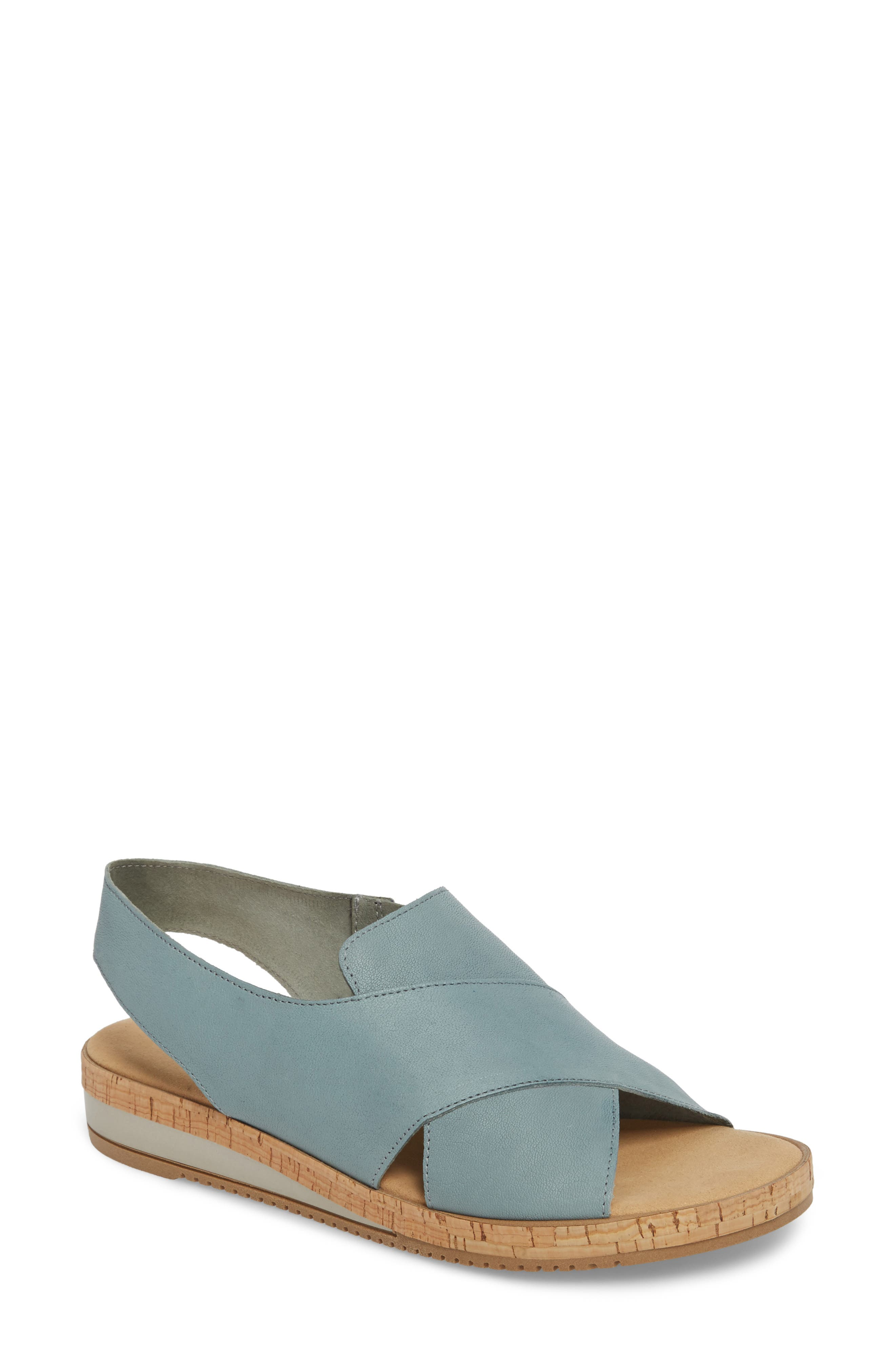 Sylke Sandal,                         Main,                         color, Jeans Leather