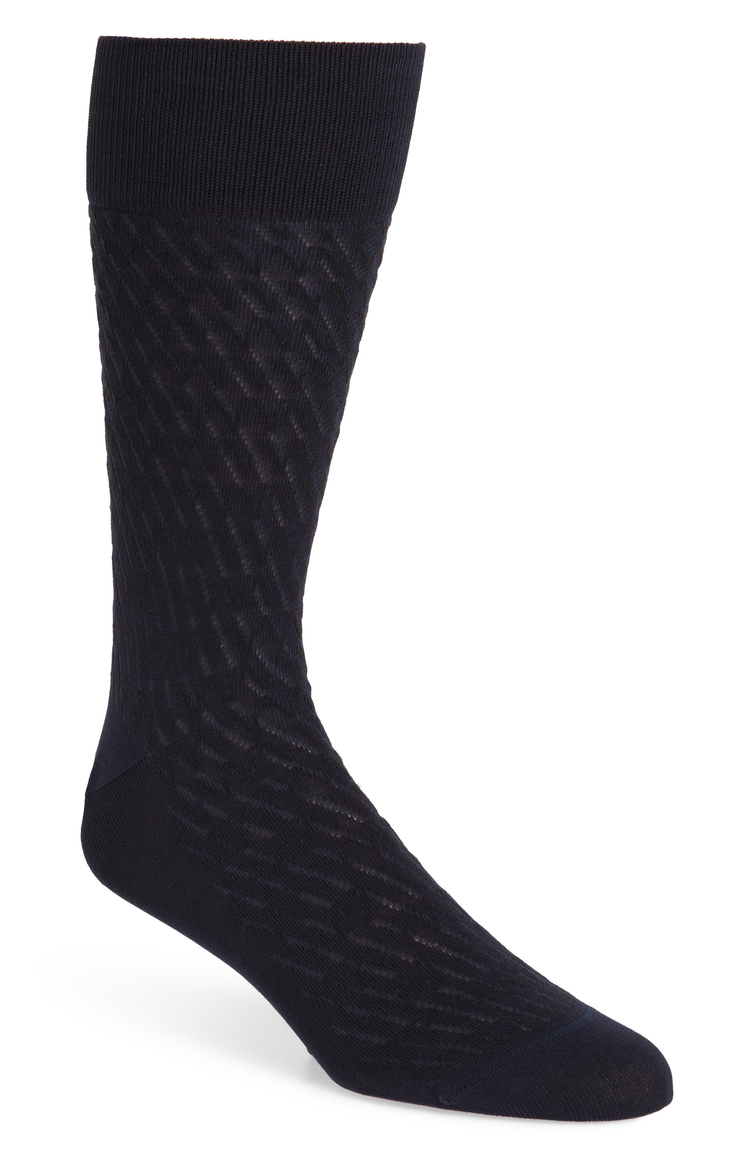 Alternate Image 1 Selected - John W. Nordstrom® Diagonal Plaited Socks