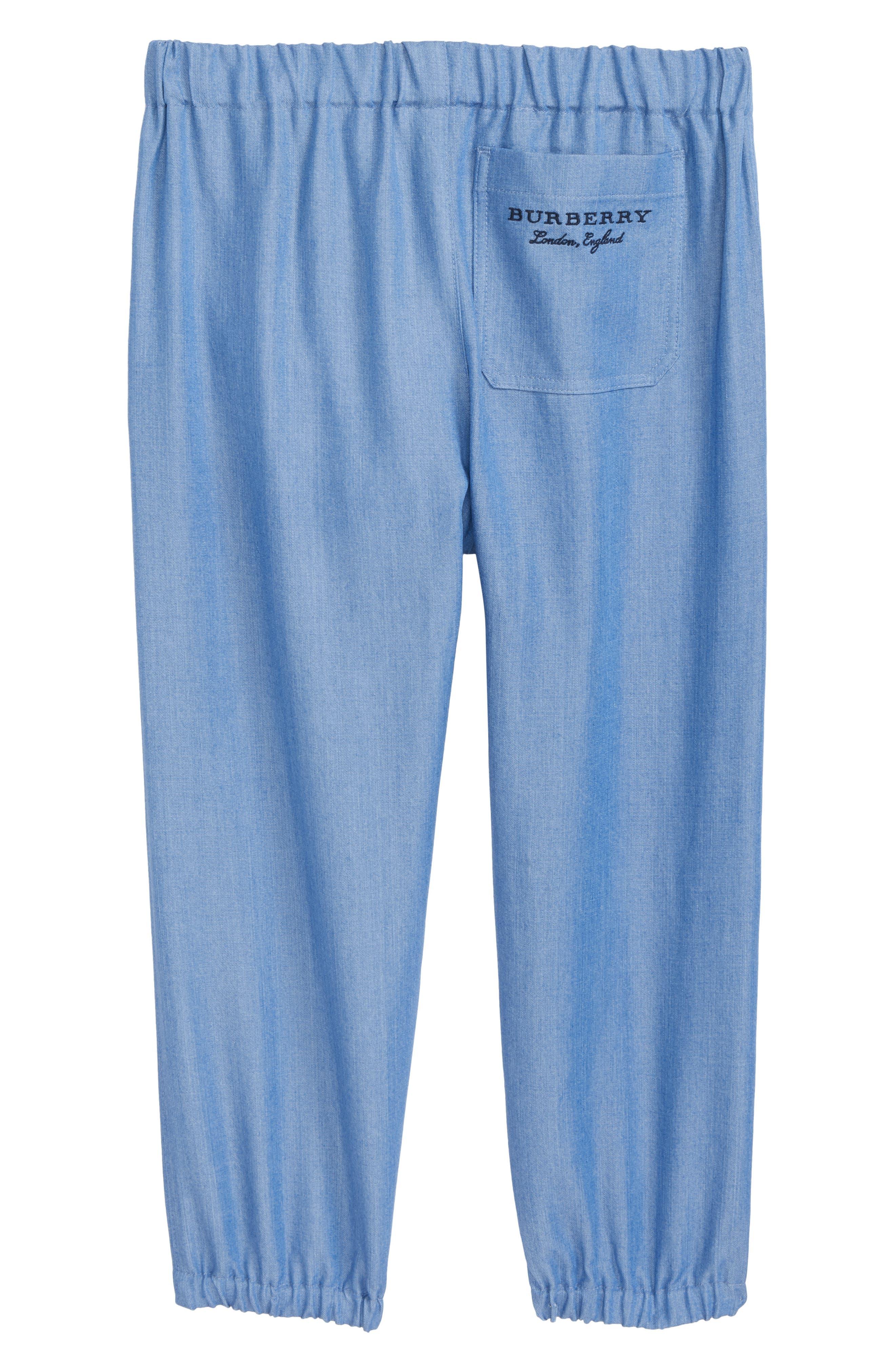 Phillie Chambray Pants,                             Alternate thumbnail 2, color,                             Steel Blue