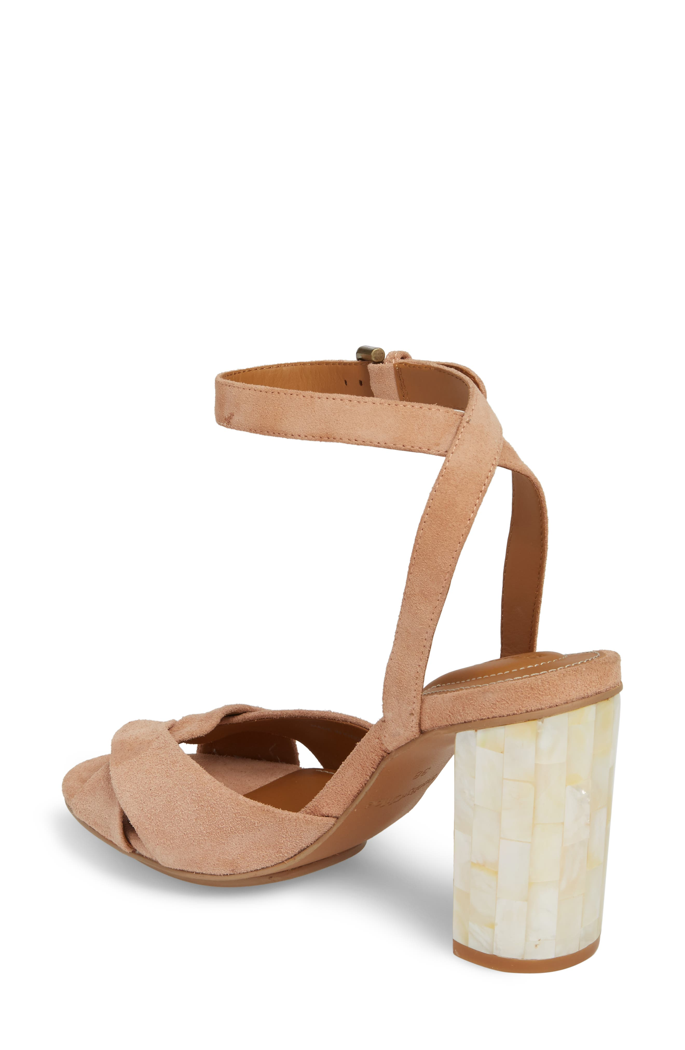 Isida Block Heel Sandal,                             Alternate thumbnail 2, color,                             Cipria