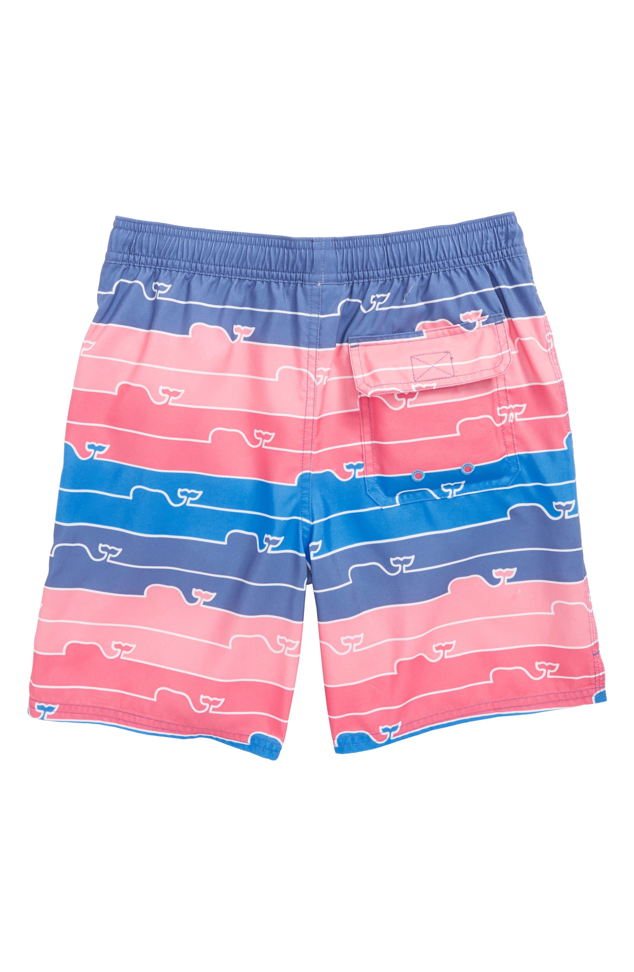 Chappy Whale Line Swim Trunks,                             Alternate thumbnail 3, color,                             Moonshine