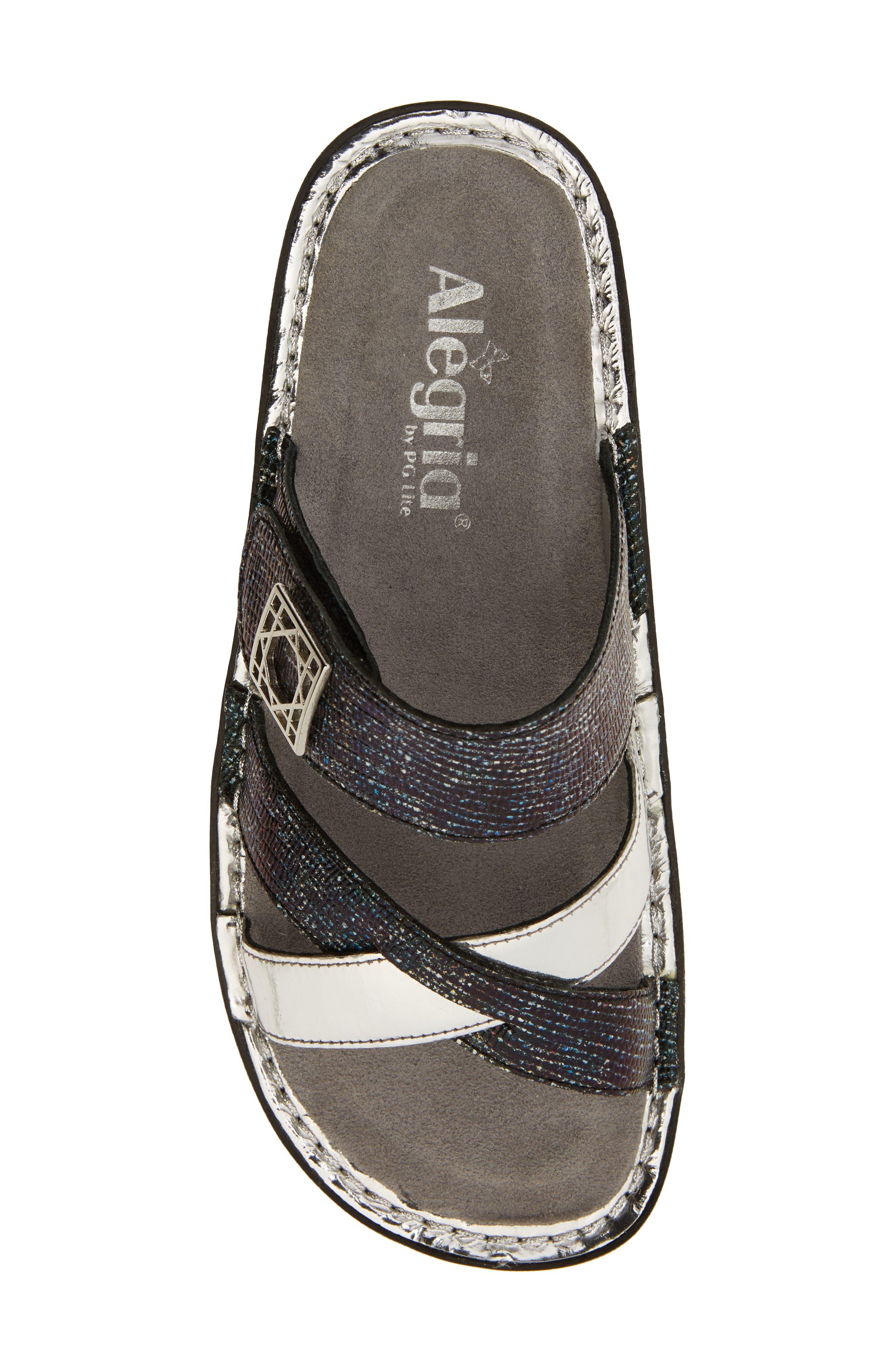 by PG Lite Victoriah Slide Sandal,                             Alternate thumbnail 5, color,                             Glimmer Glam Leather
