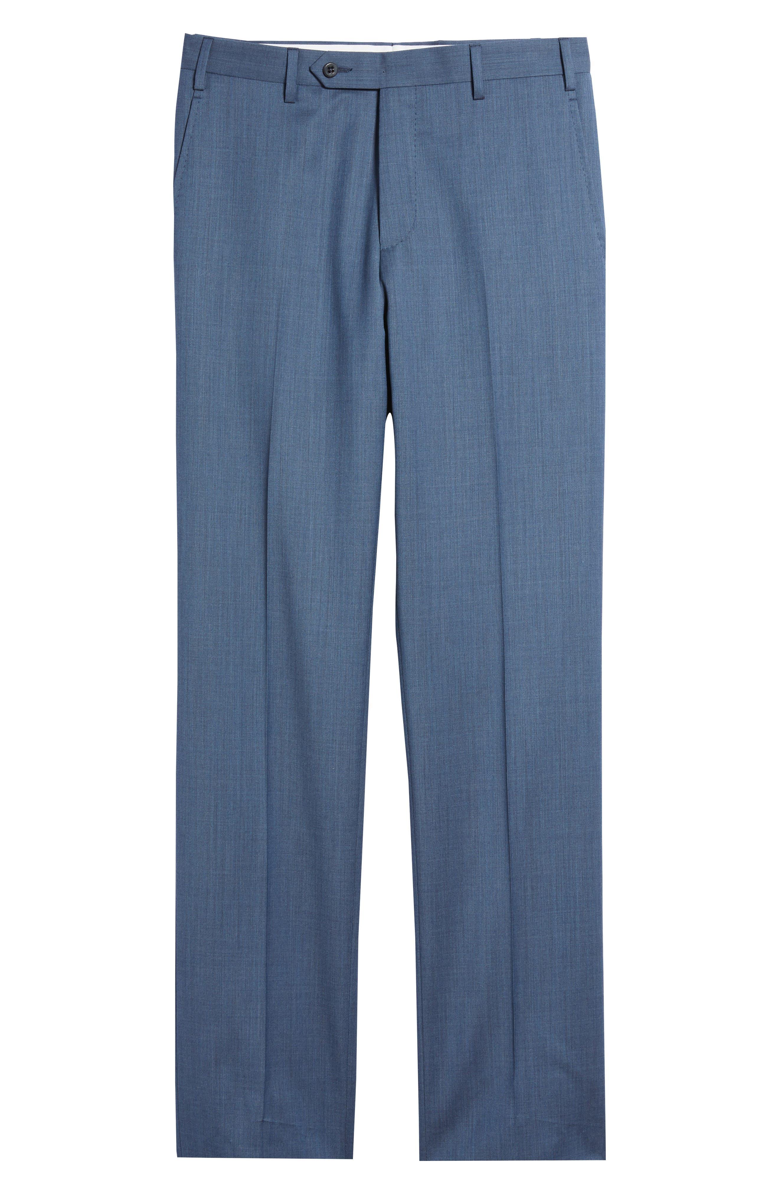 Alternate Image 8  - Zanella Devon Flat Front Solid Wool Serge Trousers