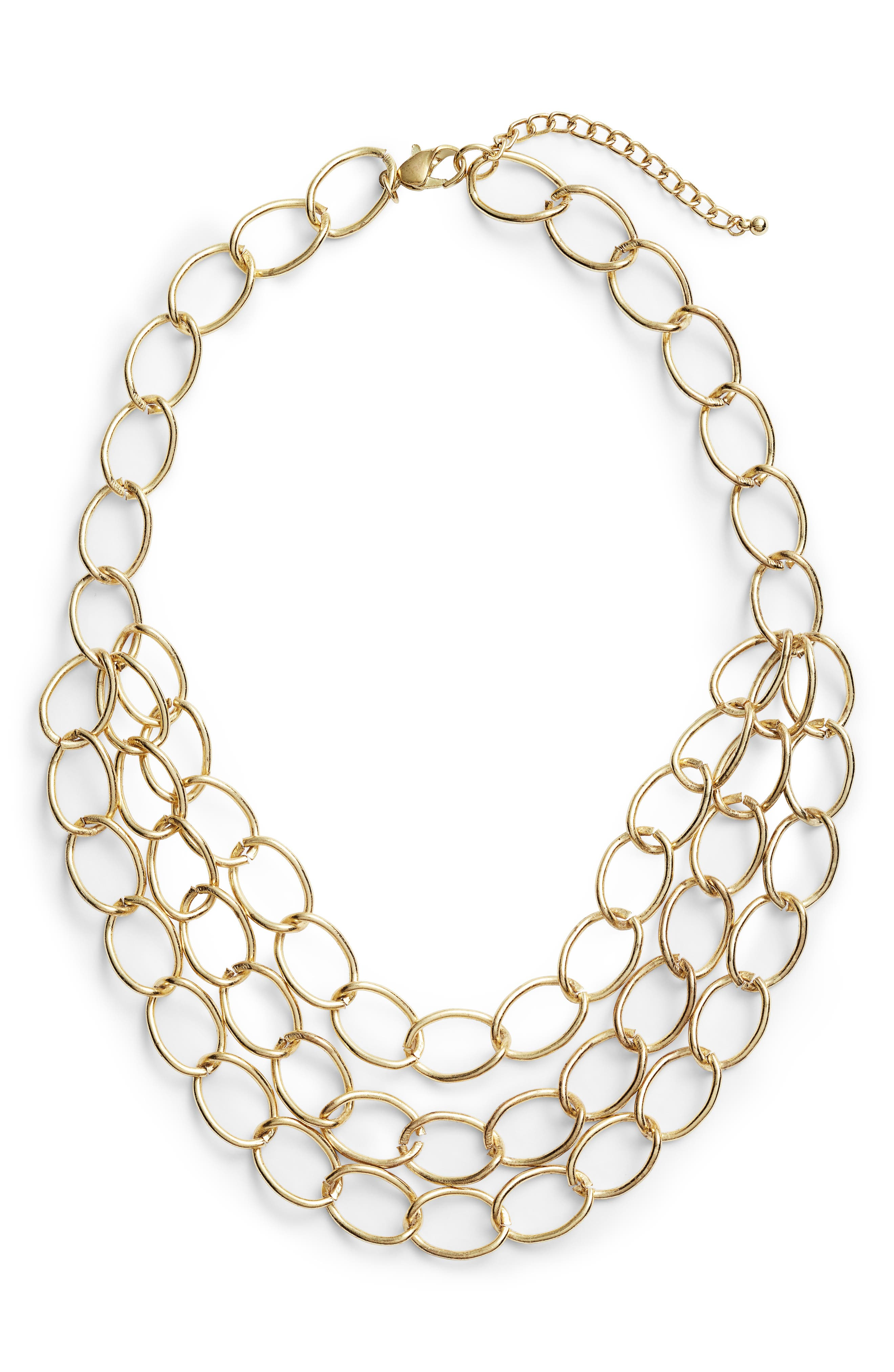 Area Stars Grace Chain Link Statement Necklace
