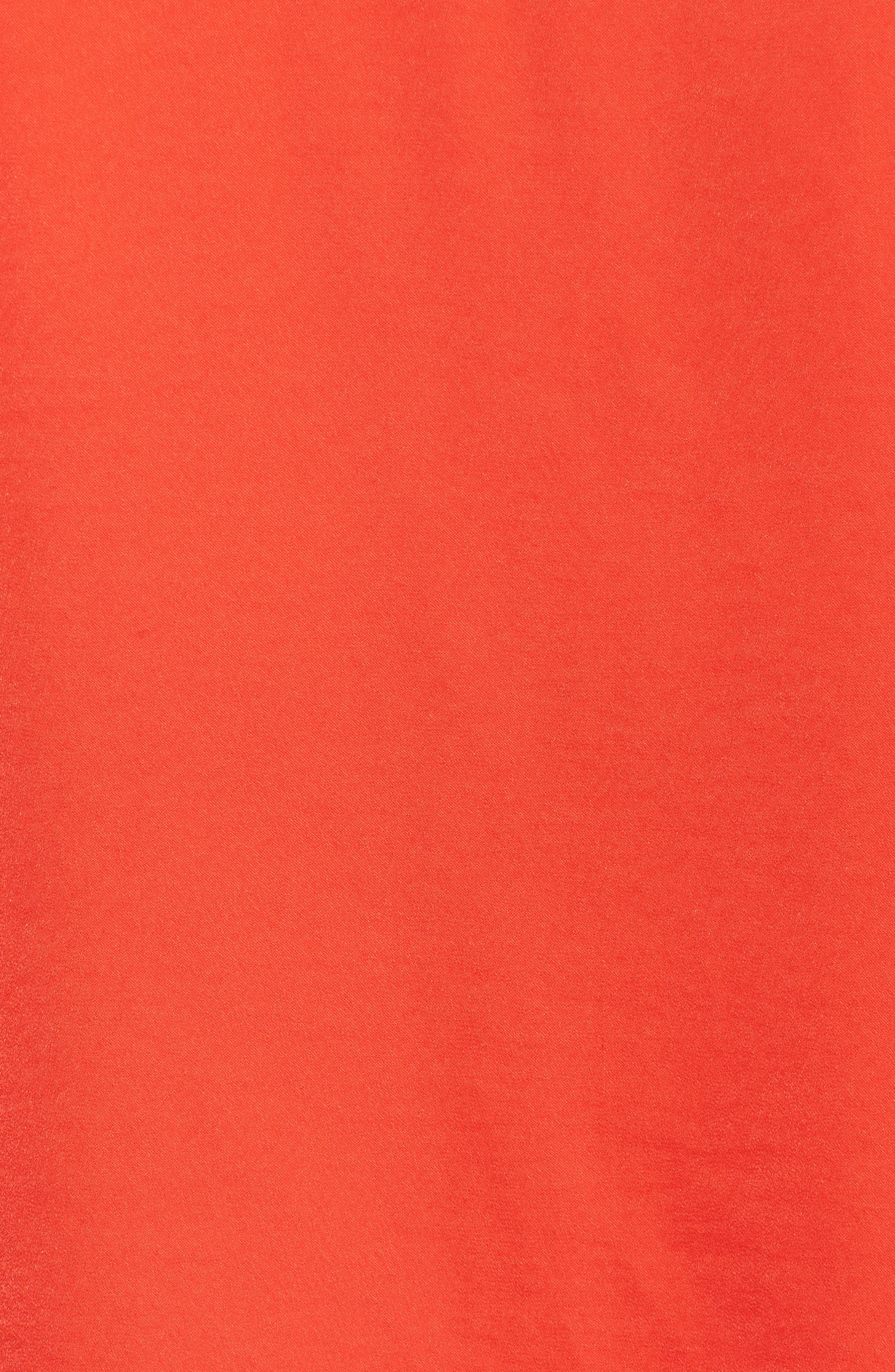 Bastille Blouse,                             Alternate thumbnail 6, color,                             Poppy Red
