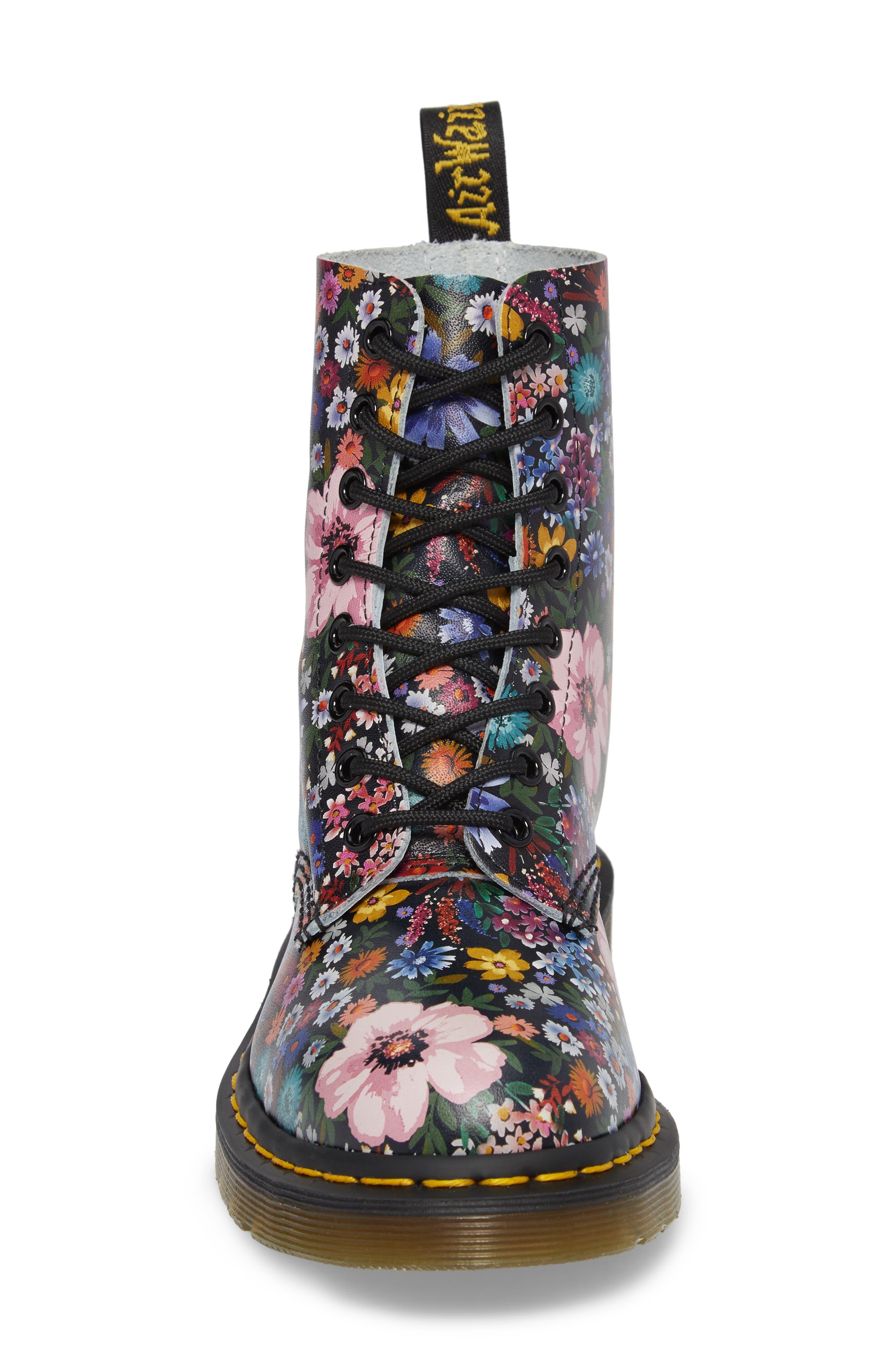 Pascal Wanderlust Boot,                             Alternate thumbnail 4, color,                             Black Floral Leather