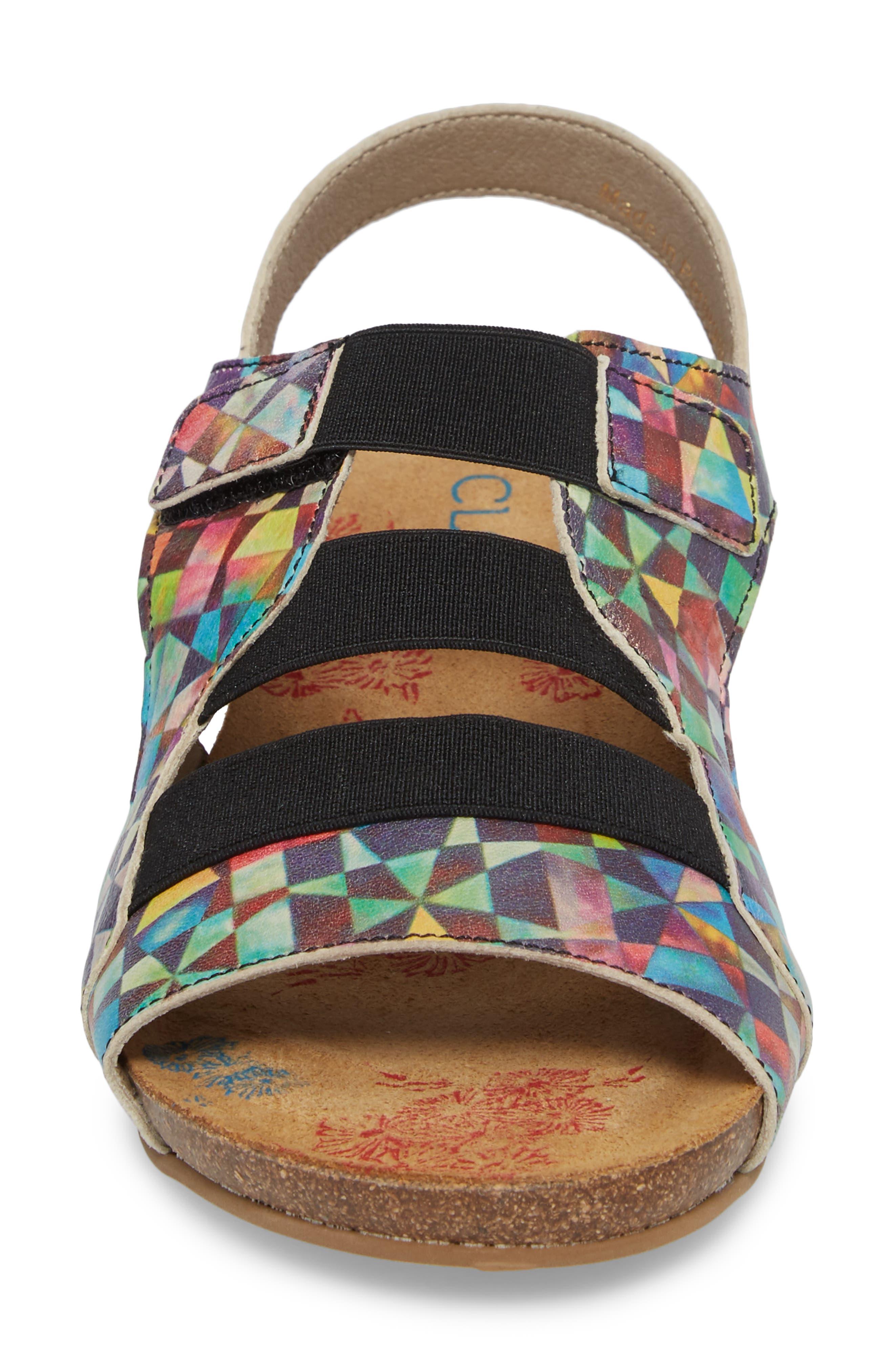 Duffy Wedge Sandal,                             Alternate thumbnail 4, color,                             Mystere Leather