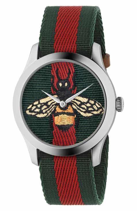 b52b2d7d029 Gucci G-Timeless Nylon Strap Watch