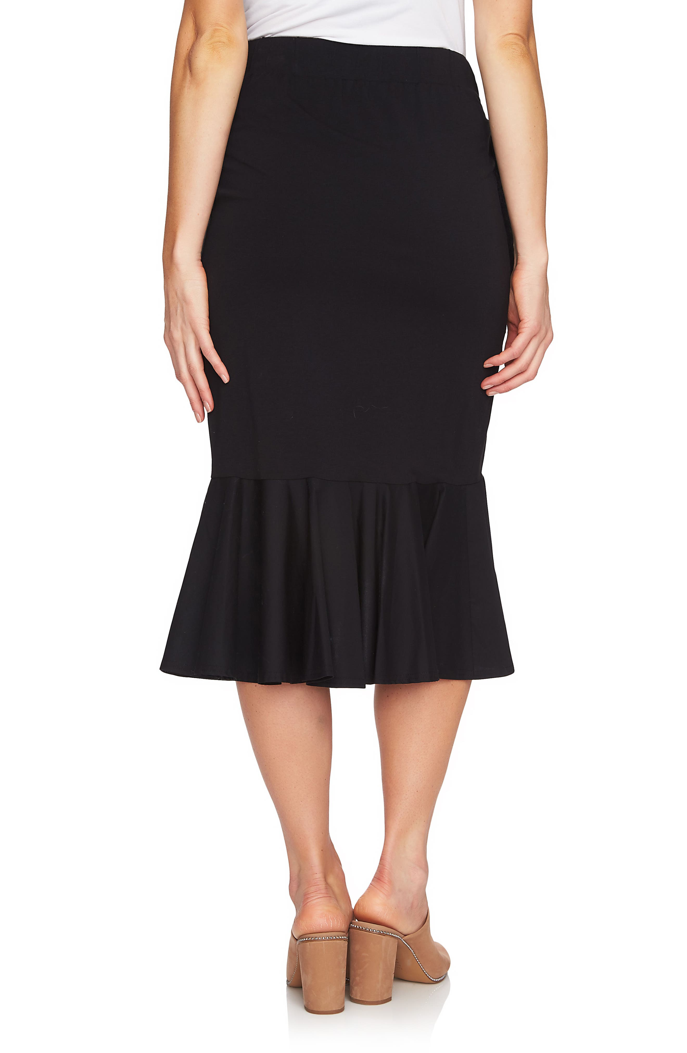 Ruffle Skirt,                             Alternate thumbnail 2, color,                             060-Rich Black